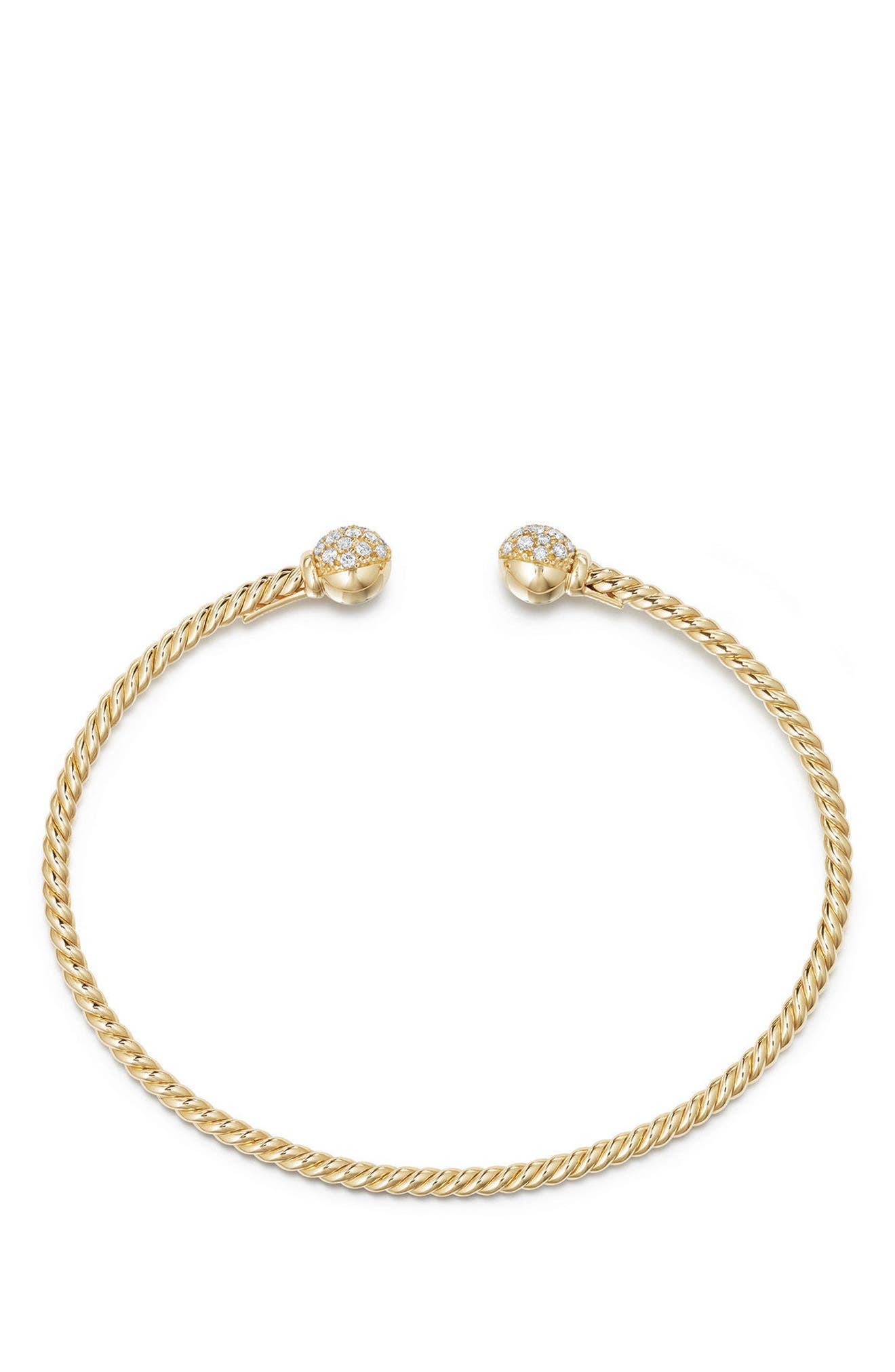 Solari Bead Bracelet with Diamonds in 18K Gold,                             Alternate thumbnail 2, color,                             Yellow Gold/ Diamond