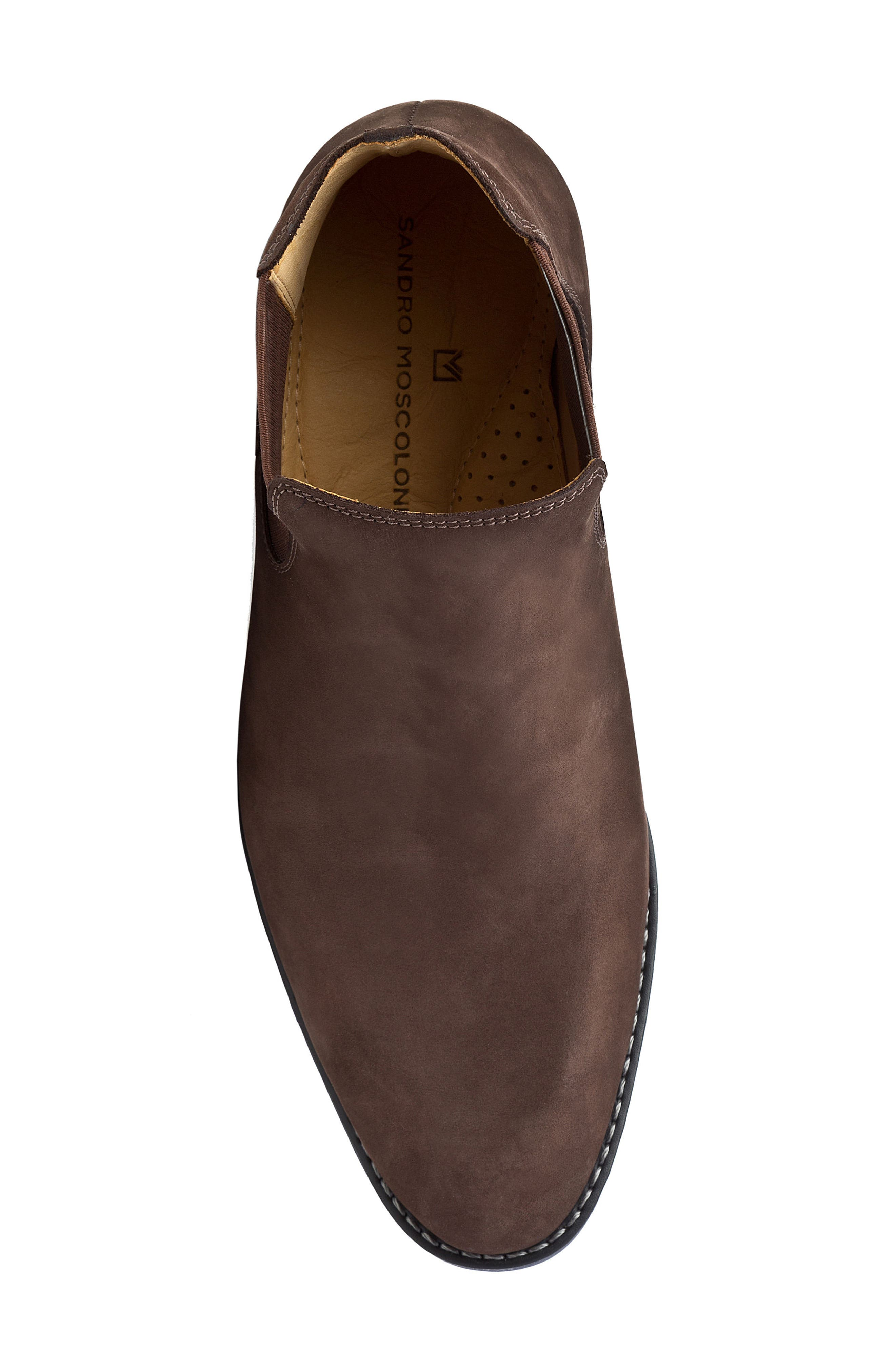 Marcus Chelsea Boot,                             Alternate thumbnail 5, color,                             Brown Nubuck Leather