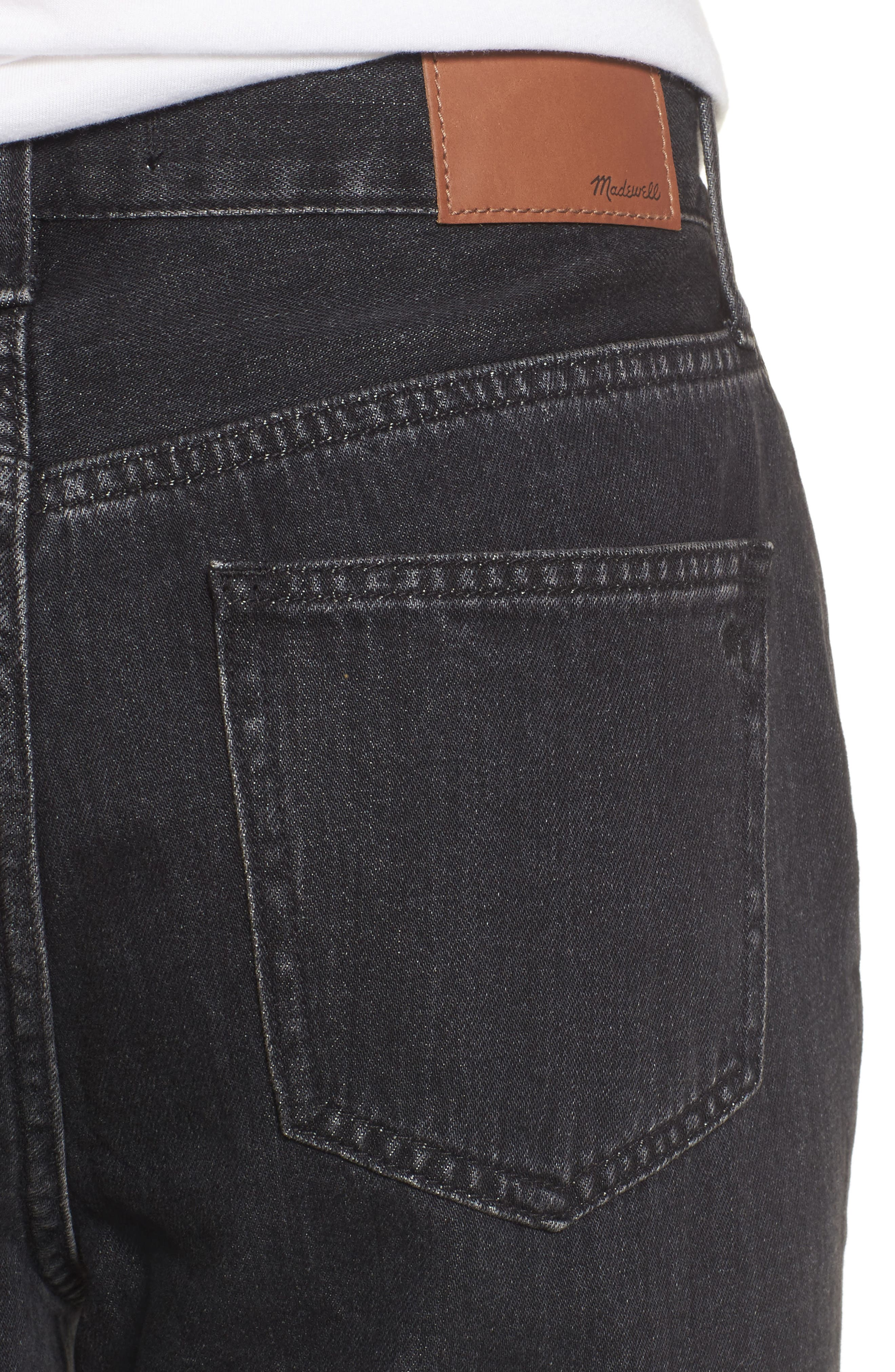 The Perfect Summer 11-Inch High Waist Ankle Straight Leg Jeans,                             Alternate thumbnail 4, color,                             Crawley Wash