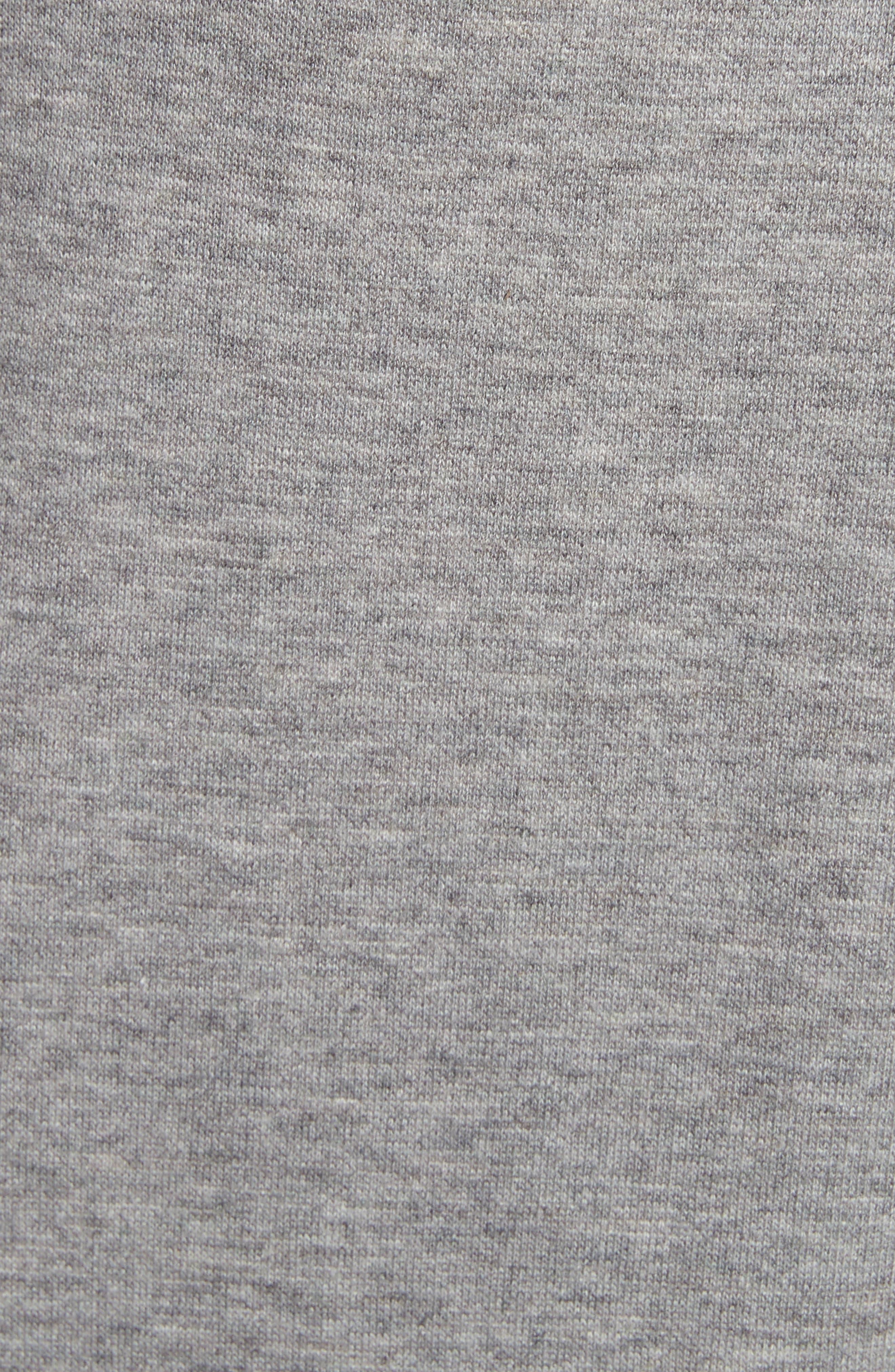 Point D'esprit Sweatshirt,                             Alternate thumbnail 5, color,                             Grey