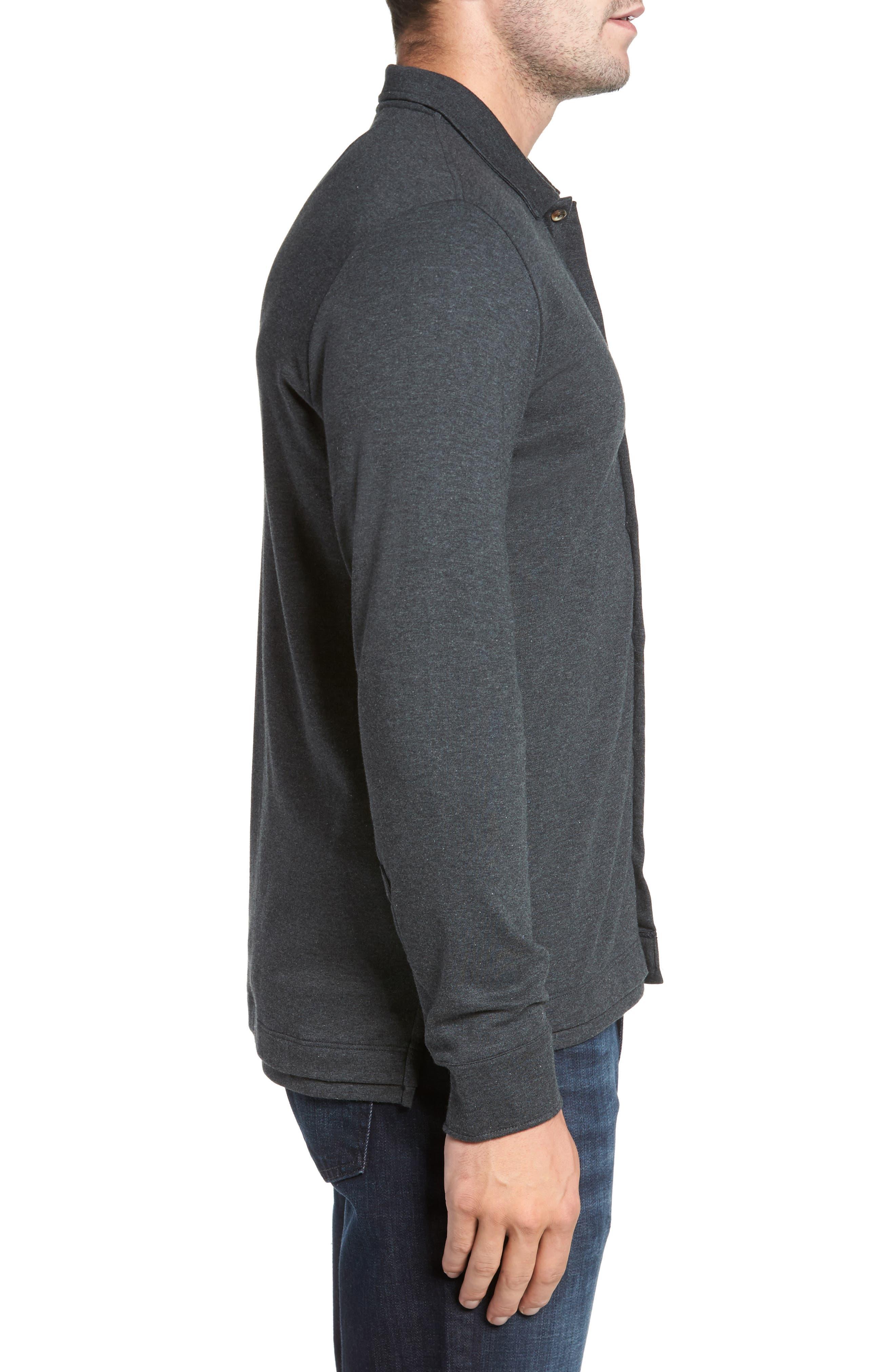 Alternate Image 3  - David Donahue Interlock Knit Sport Shirt