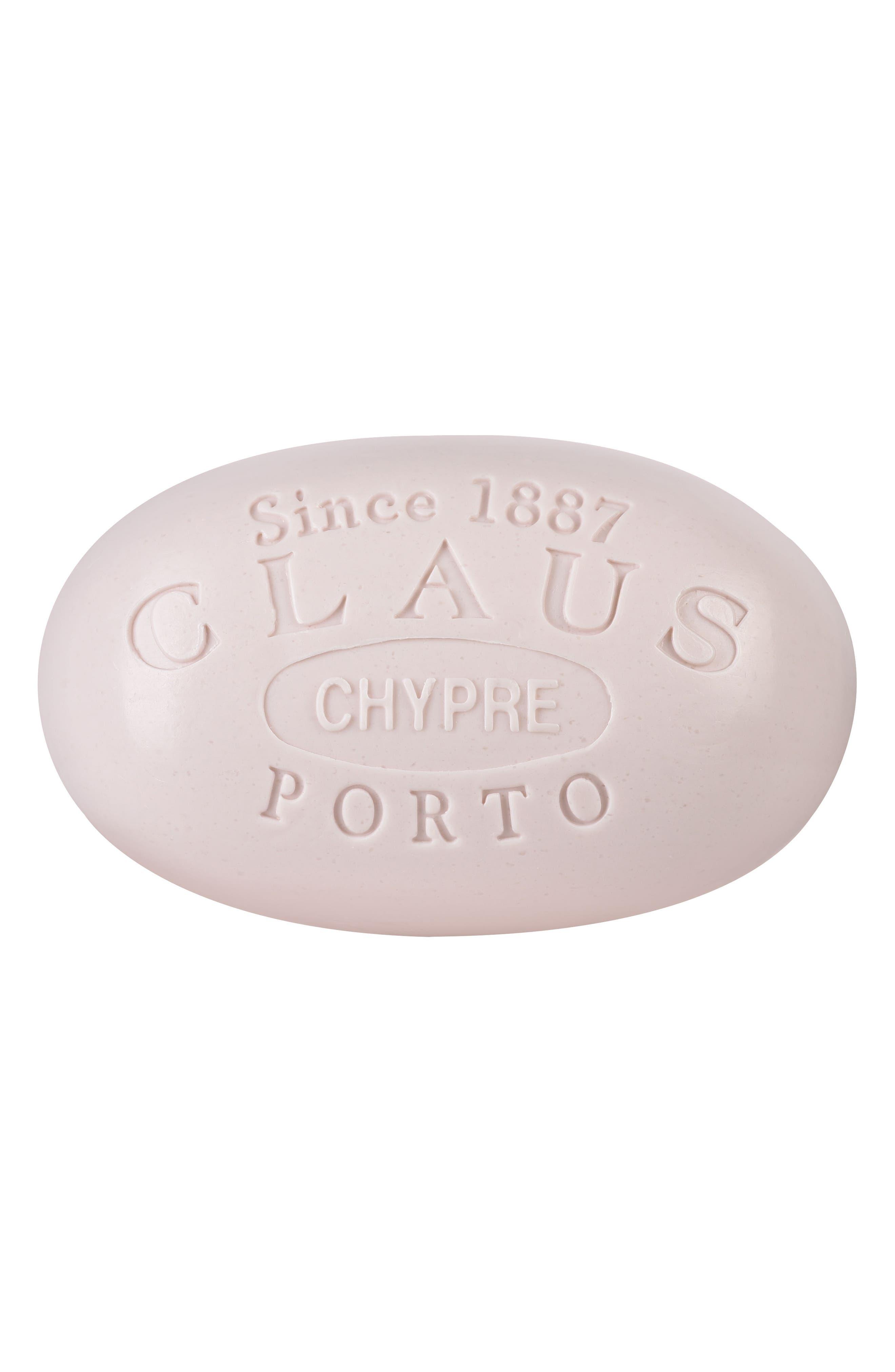 Main Image - Claus Porto Chypre Cedar Poinsettia Bath Soap