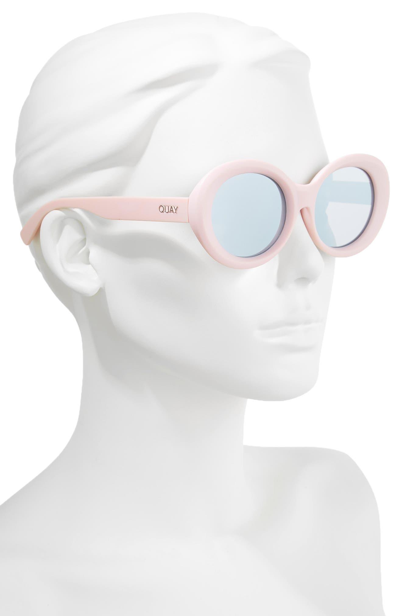Mess Around 52mm Oval Sunglasses,                             Alternate thumbnail 2, color,                             Lilac/ Smoke