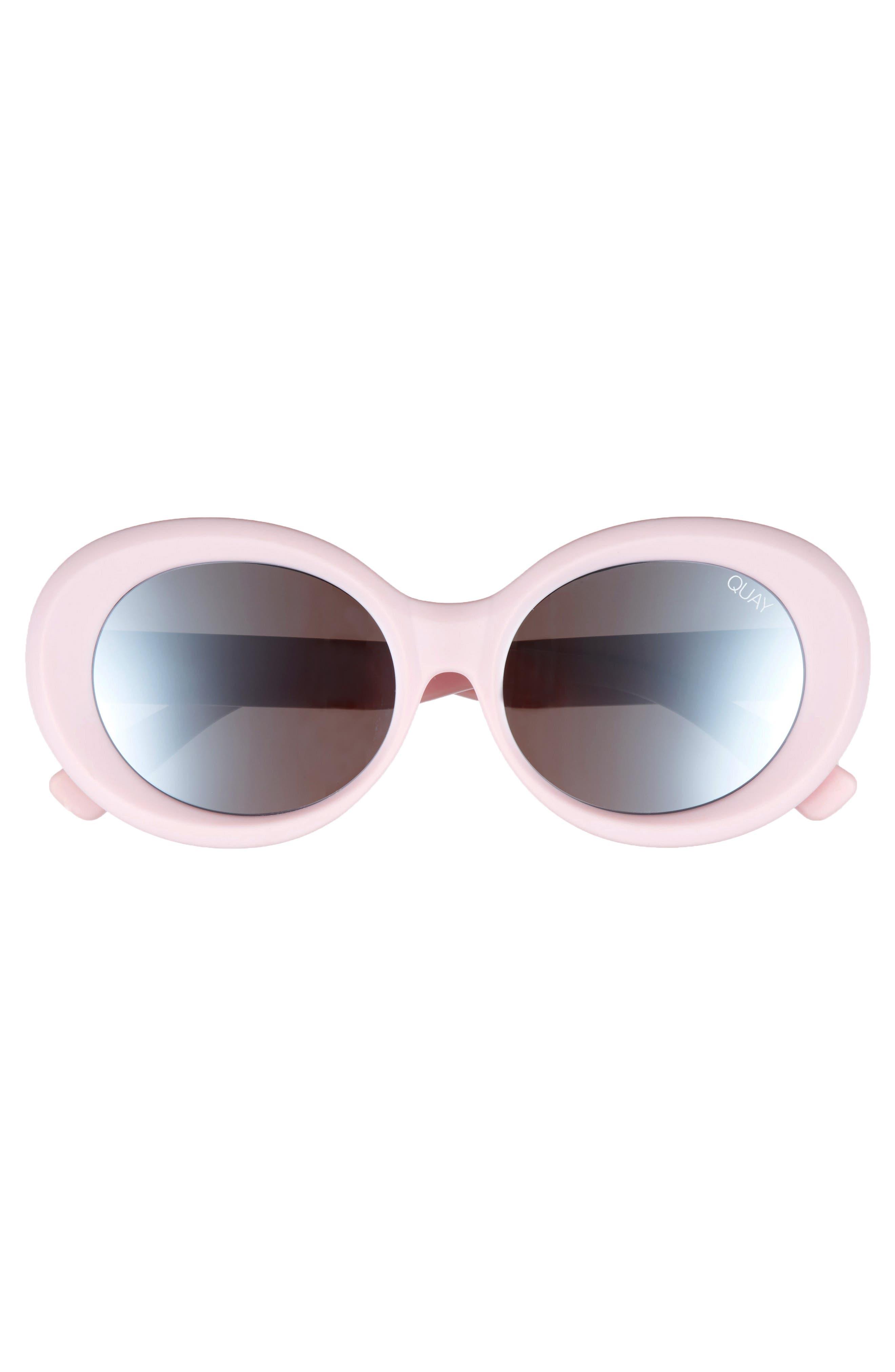 Mess Around 52mm Oval Sunglasses,                             Alternate thumbnail 3, color,                             Lilac/ Smoke