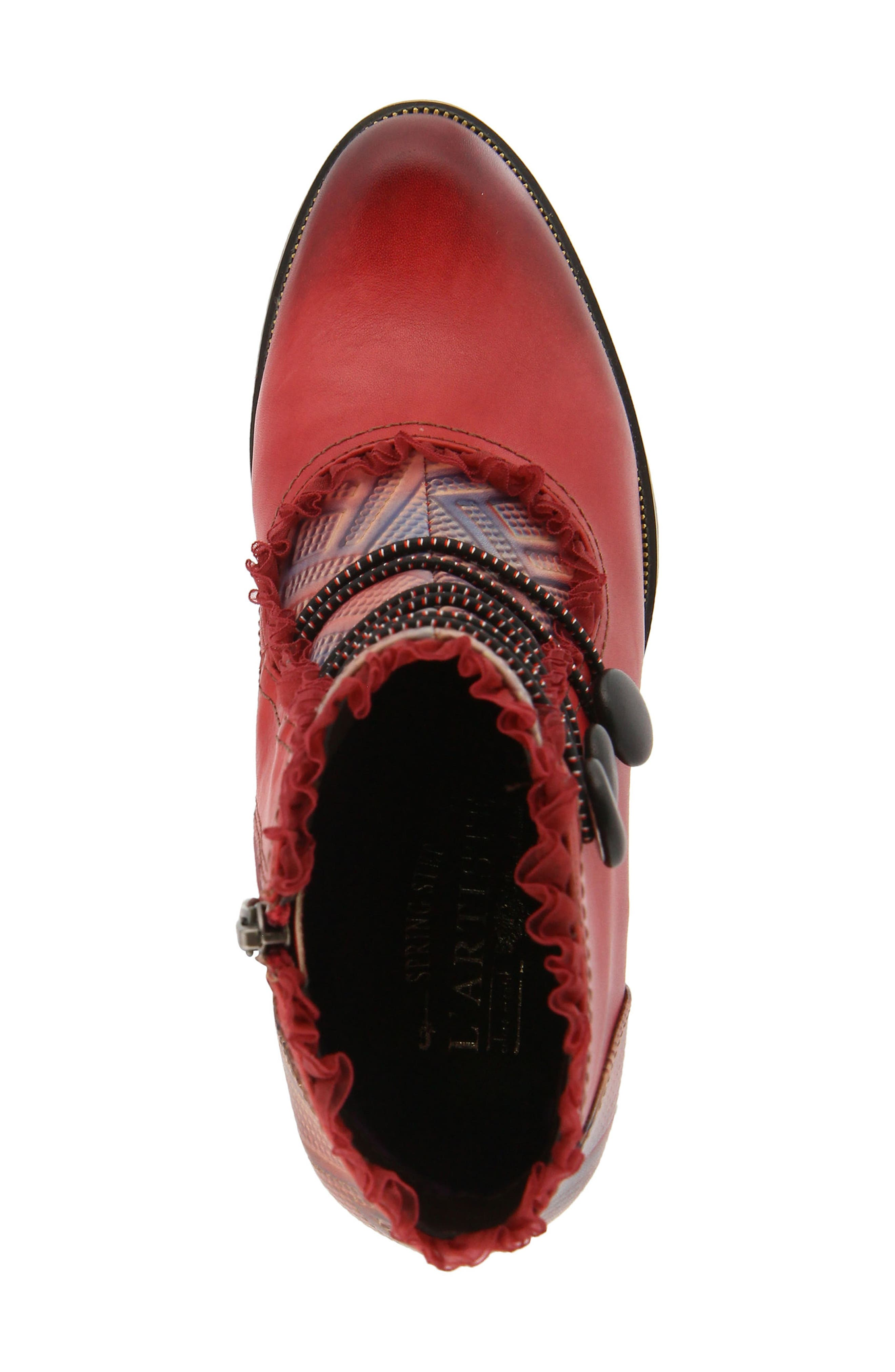 L'Artiste Conchita Boot,                             Alternate thumbnail 4, color,                             Red Leather