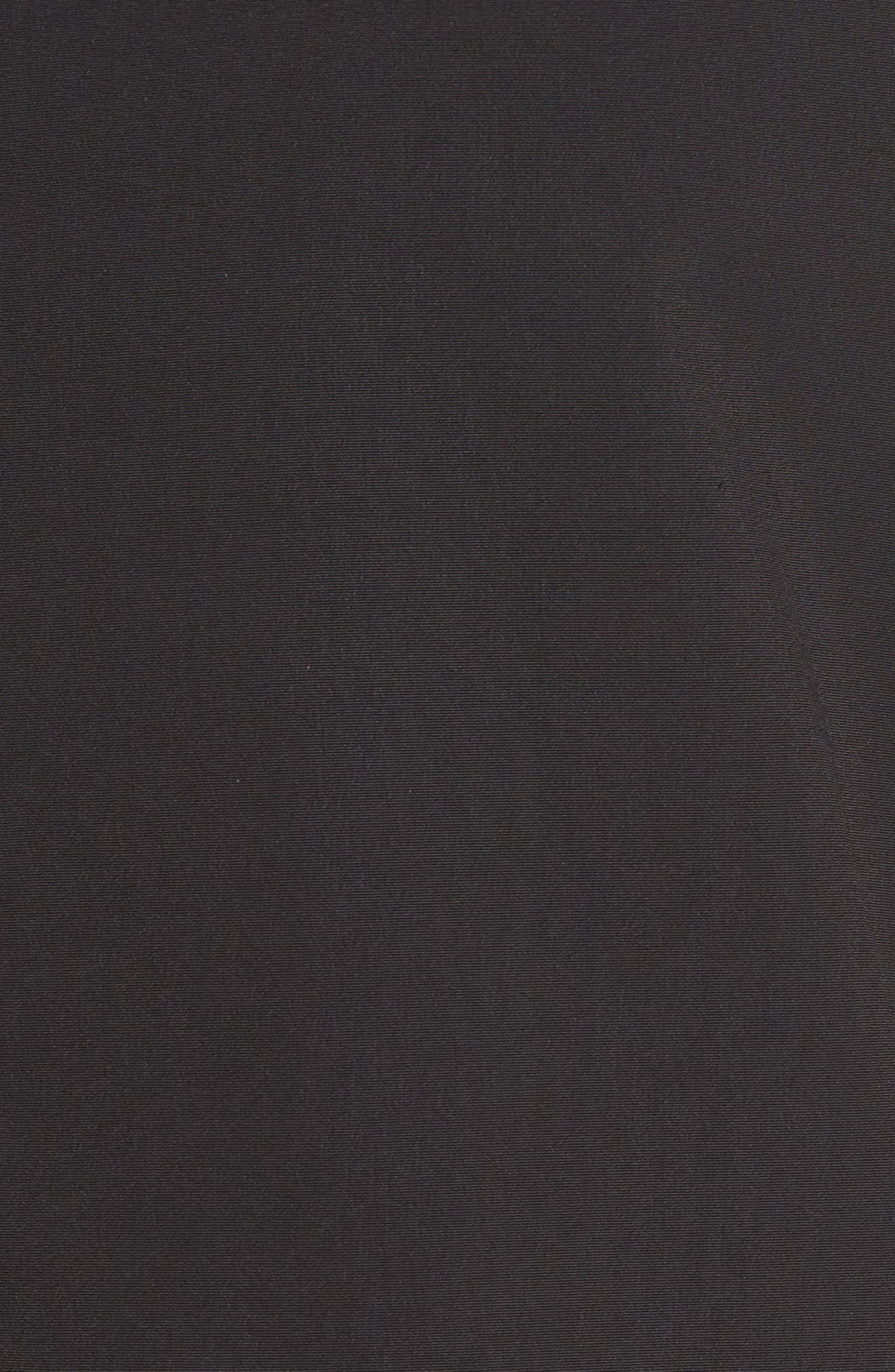 Long Bomber Jacket,                             Alternate thumbnail 6, color,                             Black