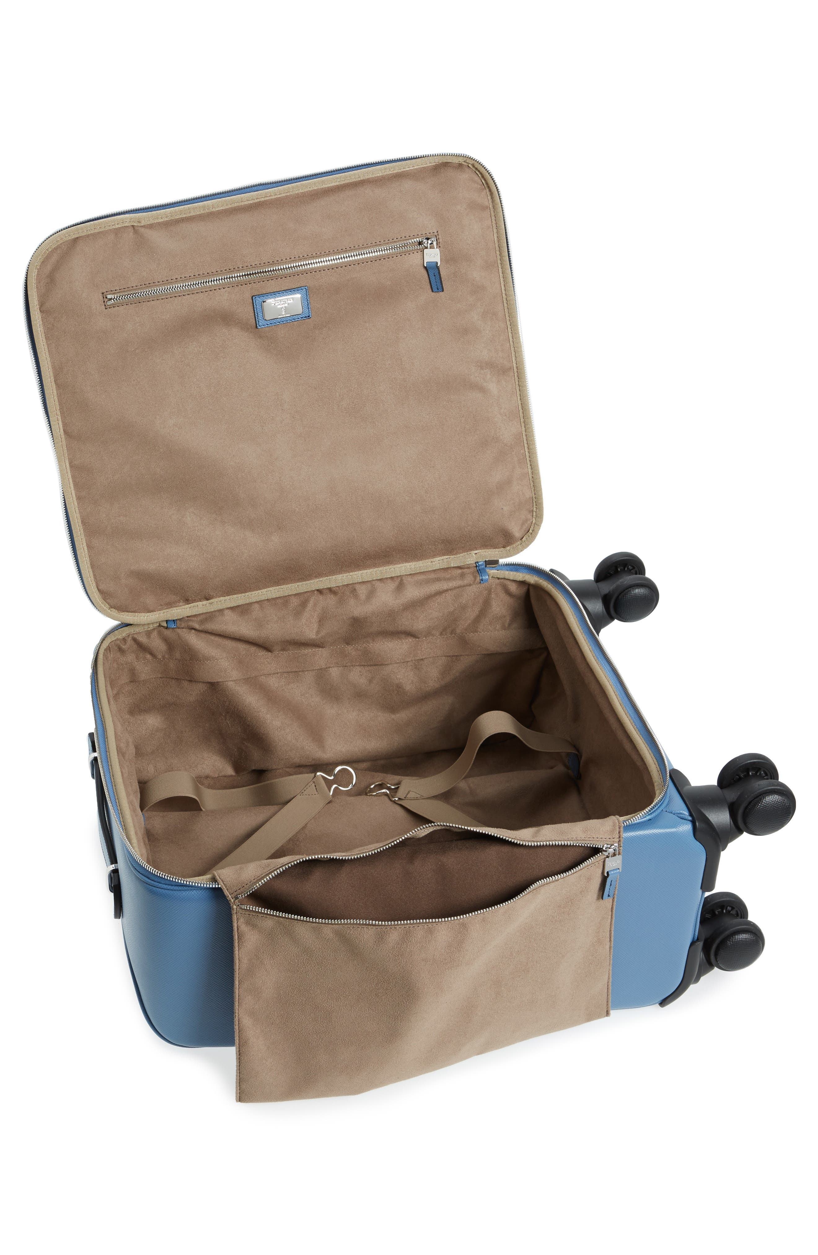 Trolley Spinner Wheeled Carry-On Suitcase,                             Alternate thumbnail 2, color,                             Blue Jeans