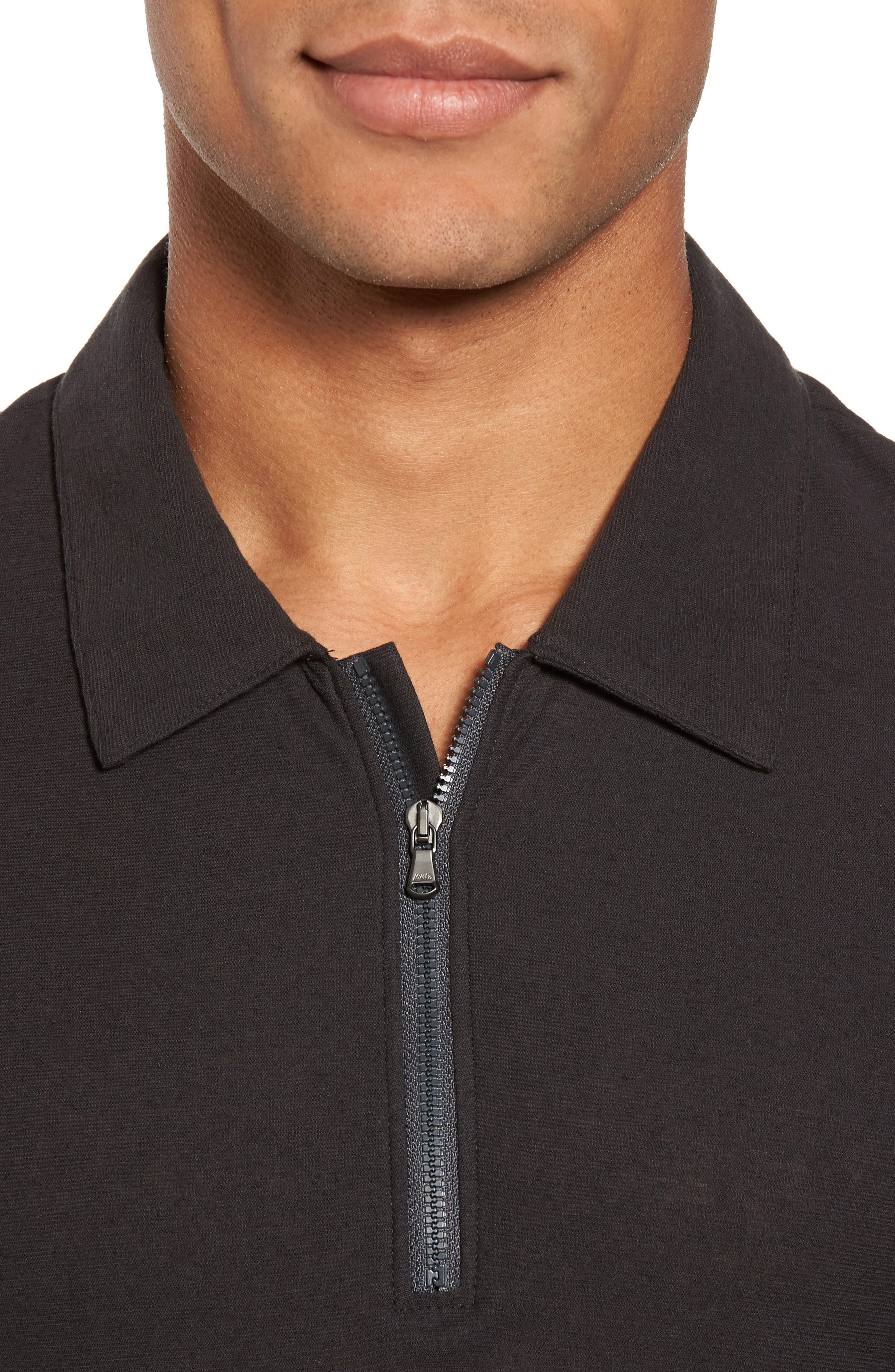 Alternate Image 4  - James Perse Zip Placket Polo