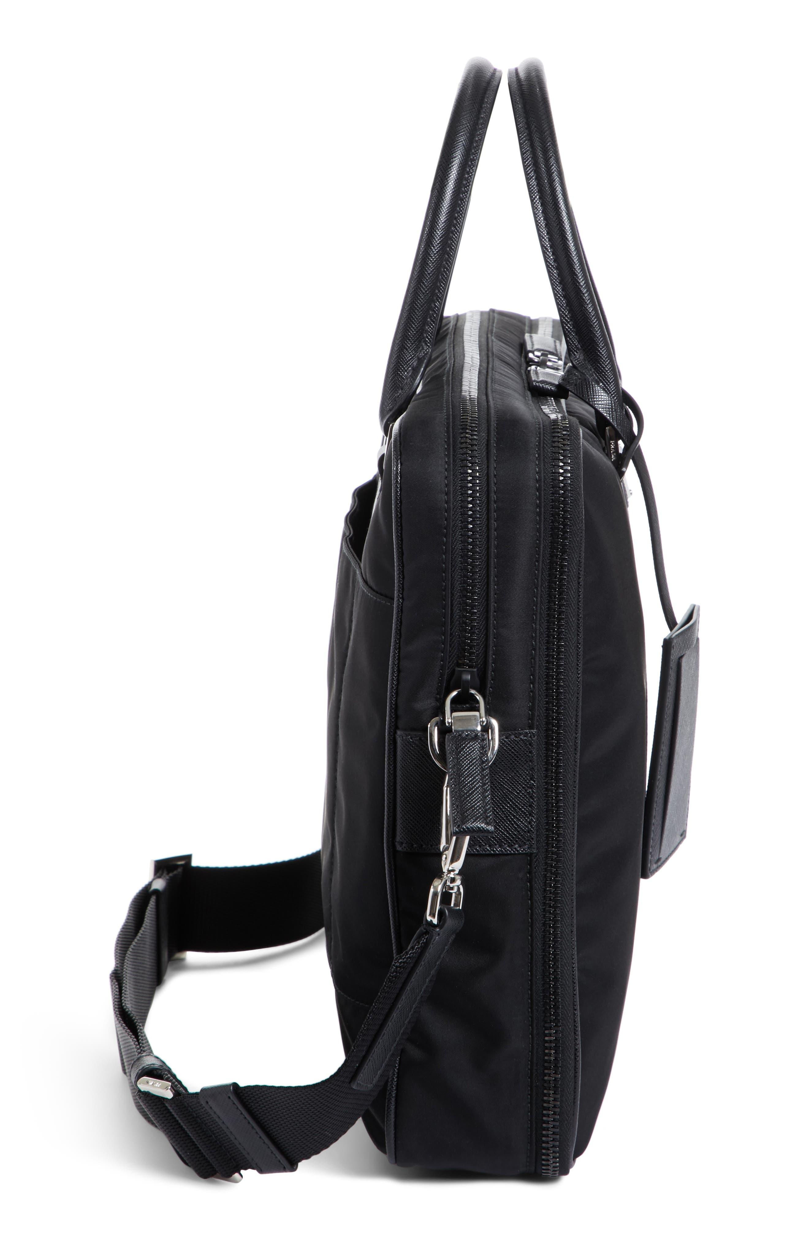 Alternate Image 5  - Prada Nylon Briefcase with Saffiano Leather Trim
