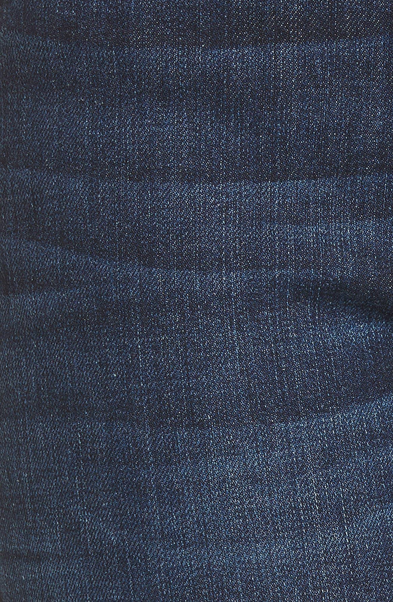 Barbara High Waist Ankle Super Skinny Jeans,                             Alternate thumbnail 5, color,                             Daze