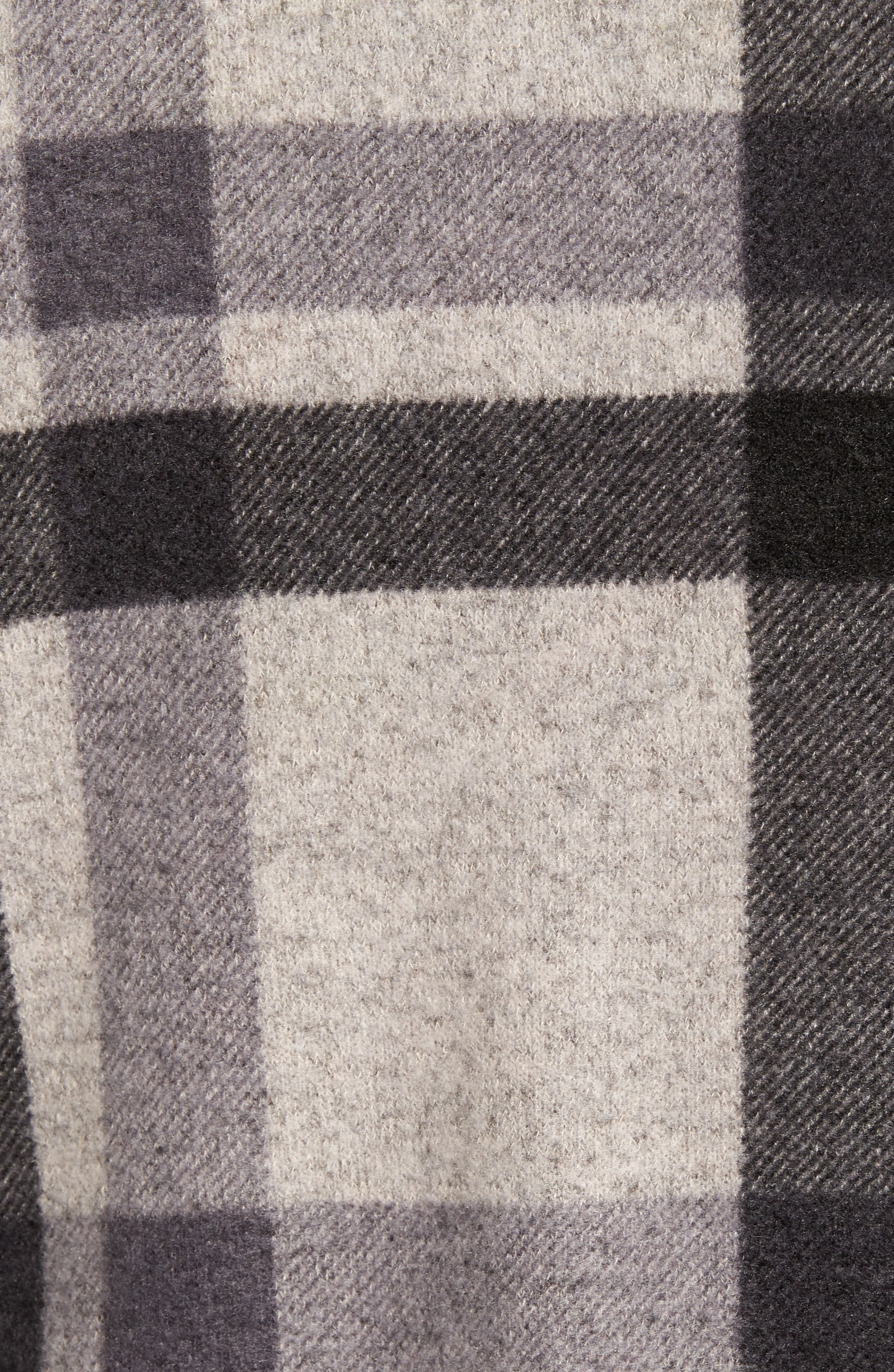 Plaid Shirt,                             Alternate thumbnail 5, color,                             Grey Charcoal Large Plaid