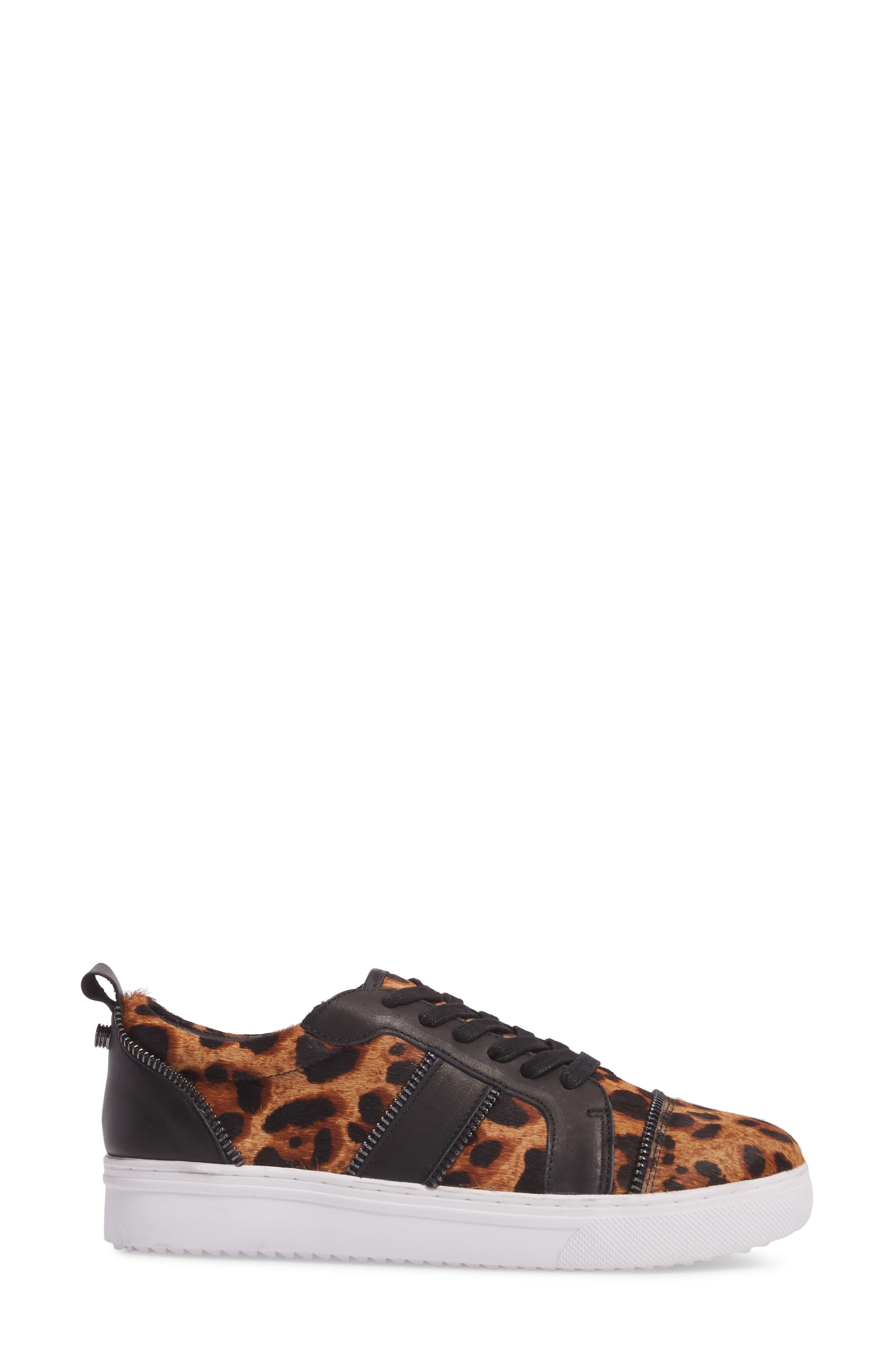 Harvey Genuine Calf Hair Sneaker,                             Alternate thumbnail 3, color,                             Leopard Calf Hair