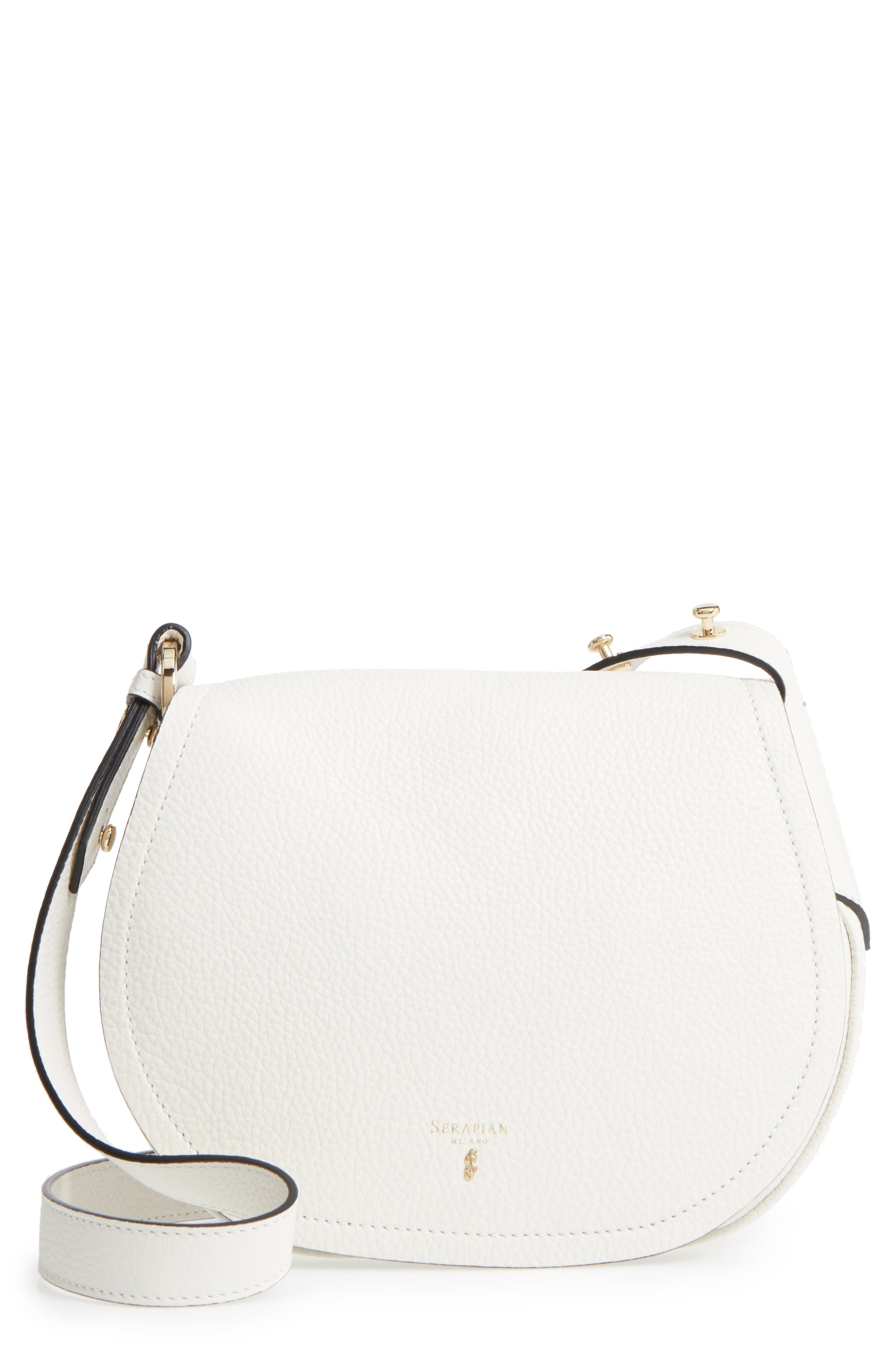 Serapian Milano Mini Valeria Cachemire Leather Crossbody Bag