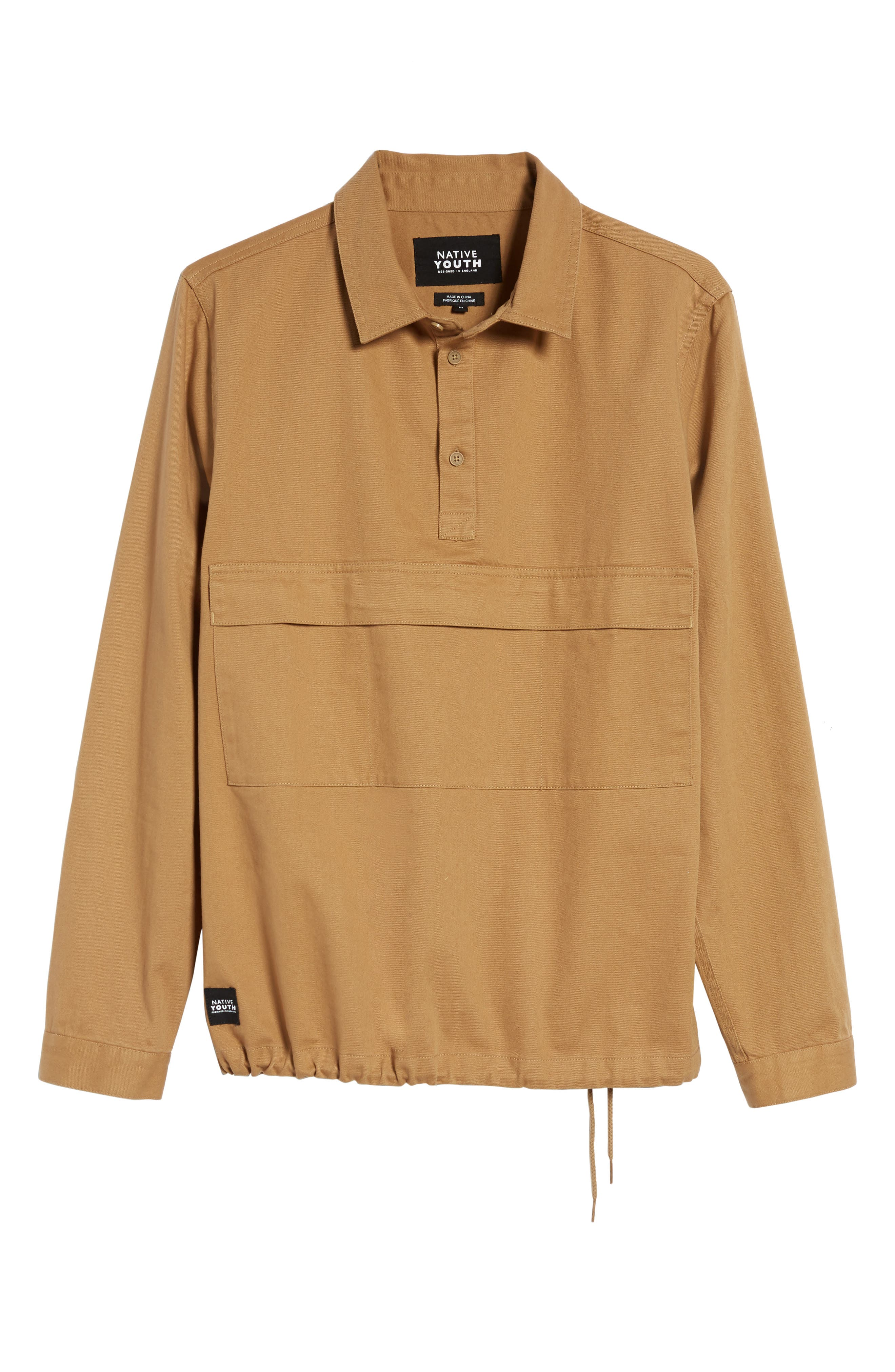 Woodside Twill Shirt,                             Alternate thumbnail 6, color,                             Sand