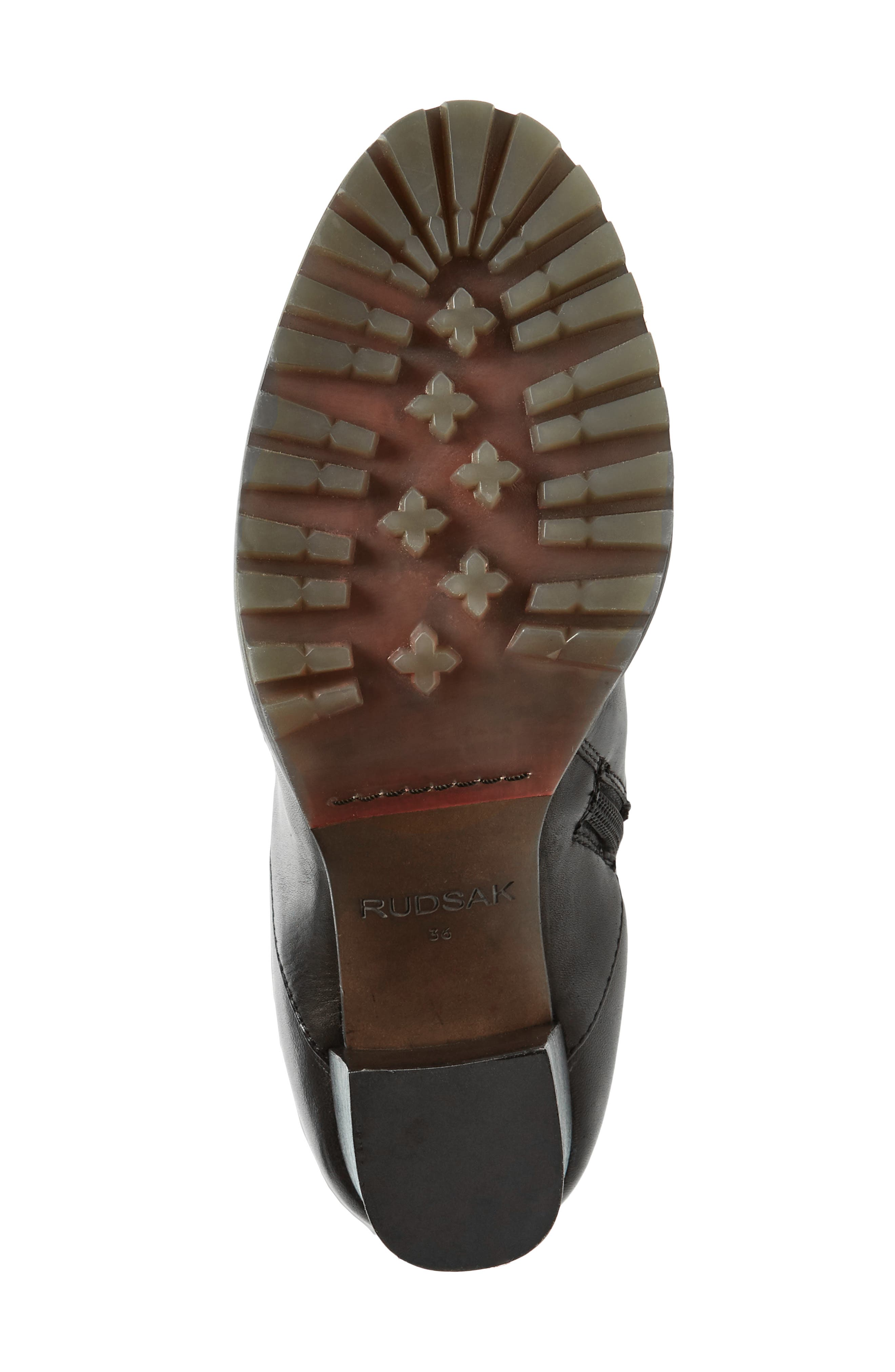 Tropia Knee High Boot,                             Alternate thumbnail 6, color,                             Black Leather