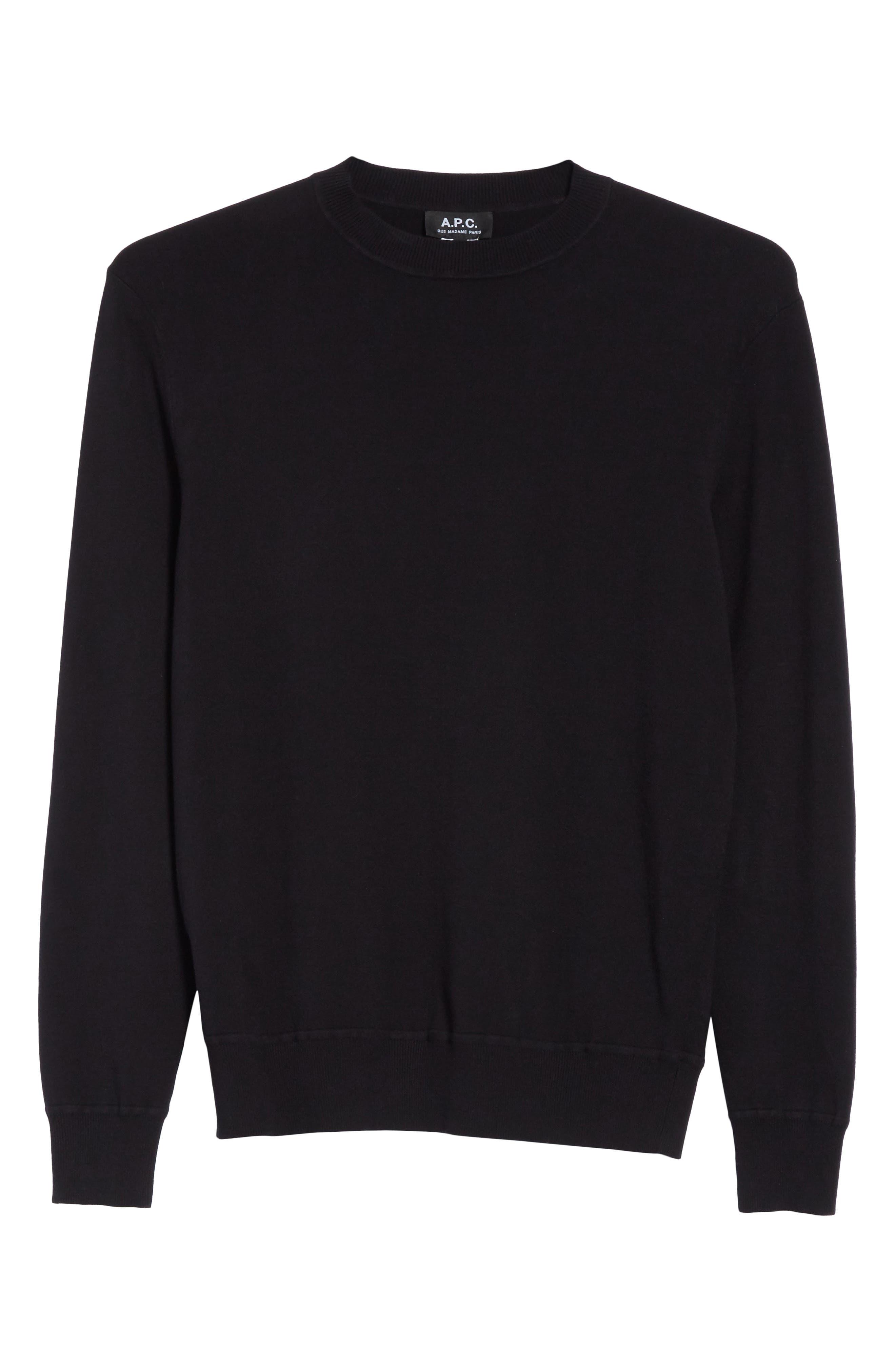 Ronnie Crewneck Sweatshirt,                             Alternate thumbnail 6, color,                             Black