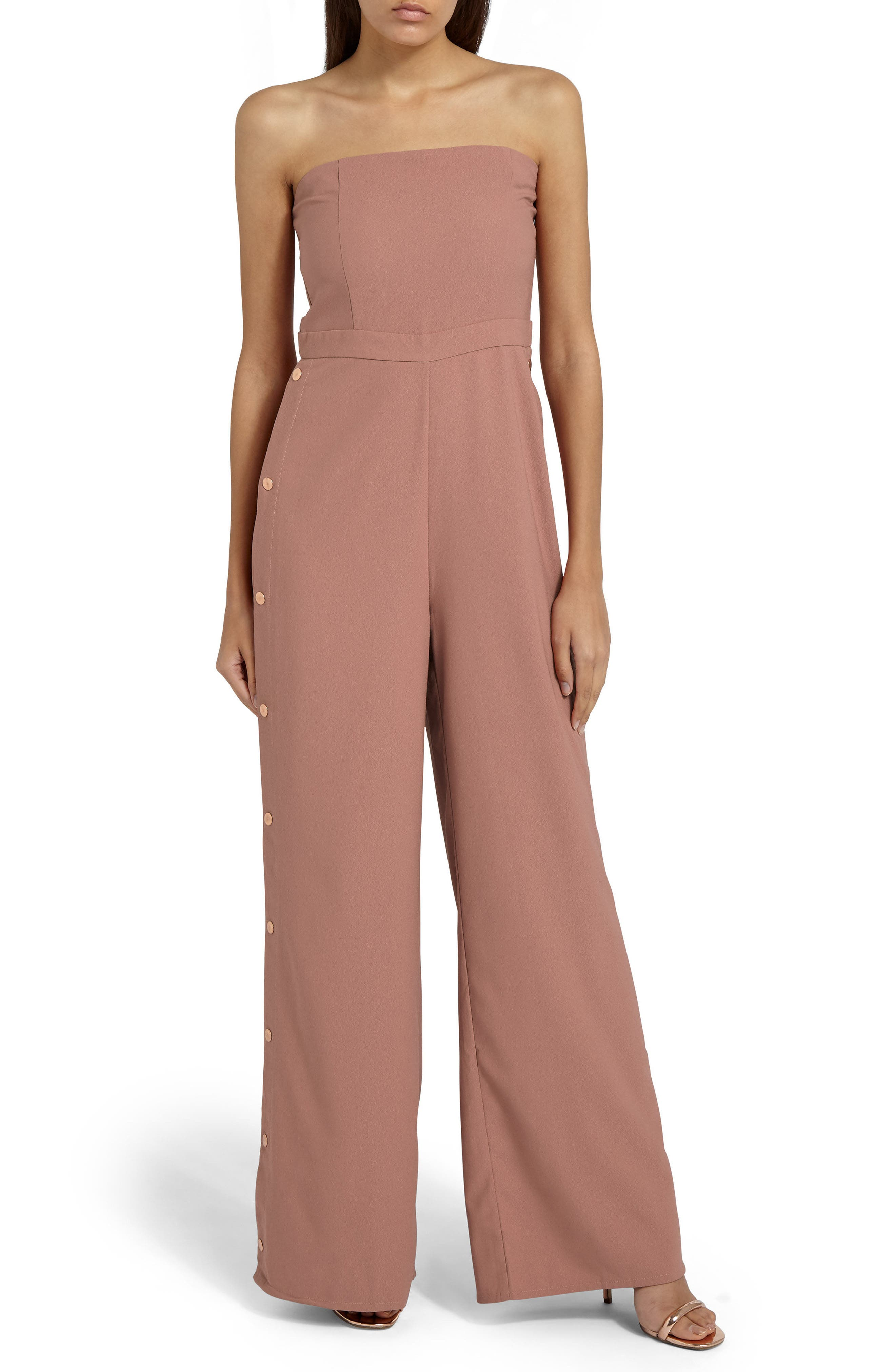 Missguided Strapless Jumpsuit
