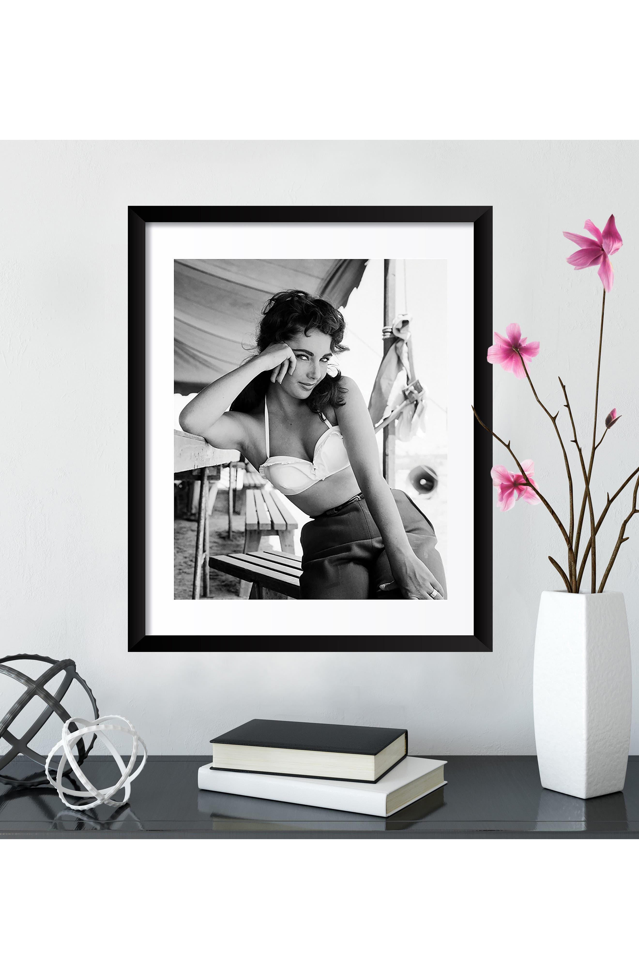 Elizabeth Taylor Fine Art Print,                             Alternate thumbnail 3, color,                             Black