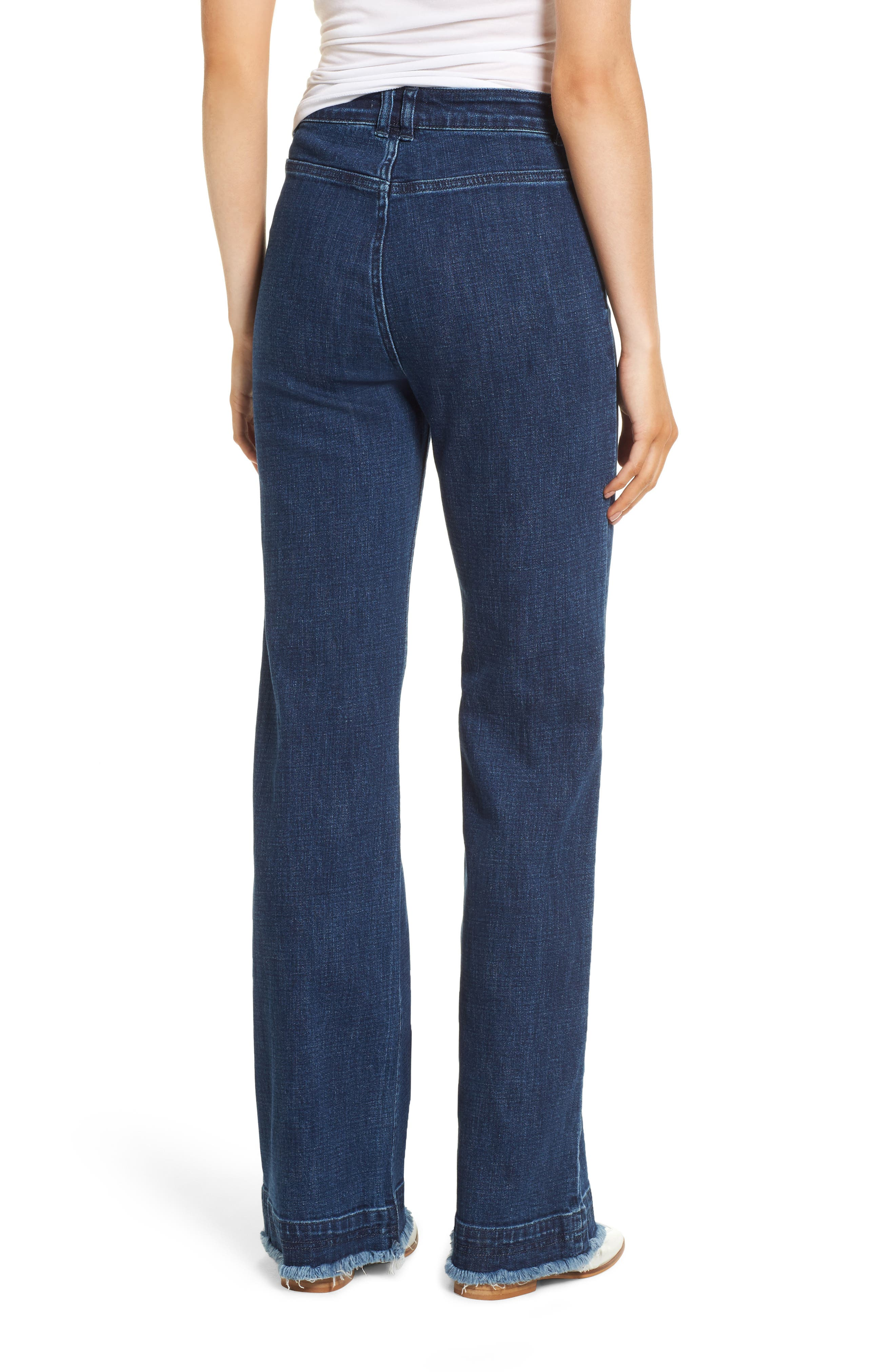 Elwood Wide Leg Jeans,                             Alternate thumbnail 2, color,                             Indigo