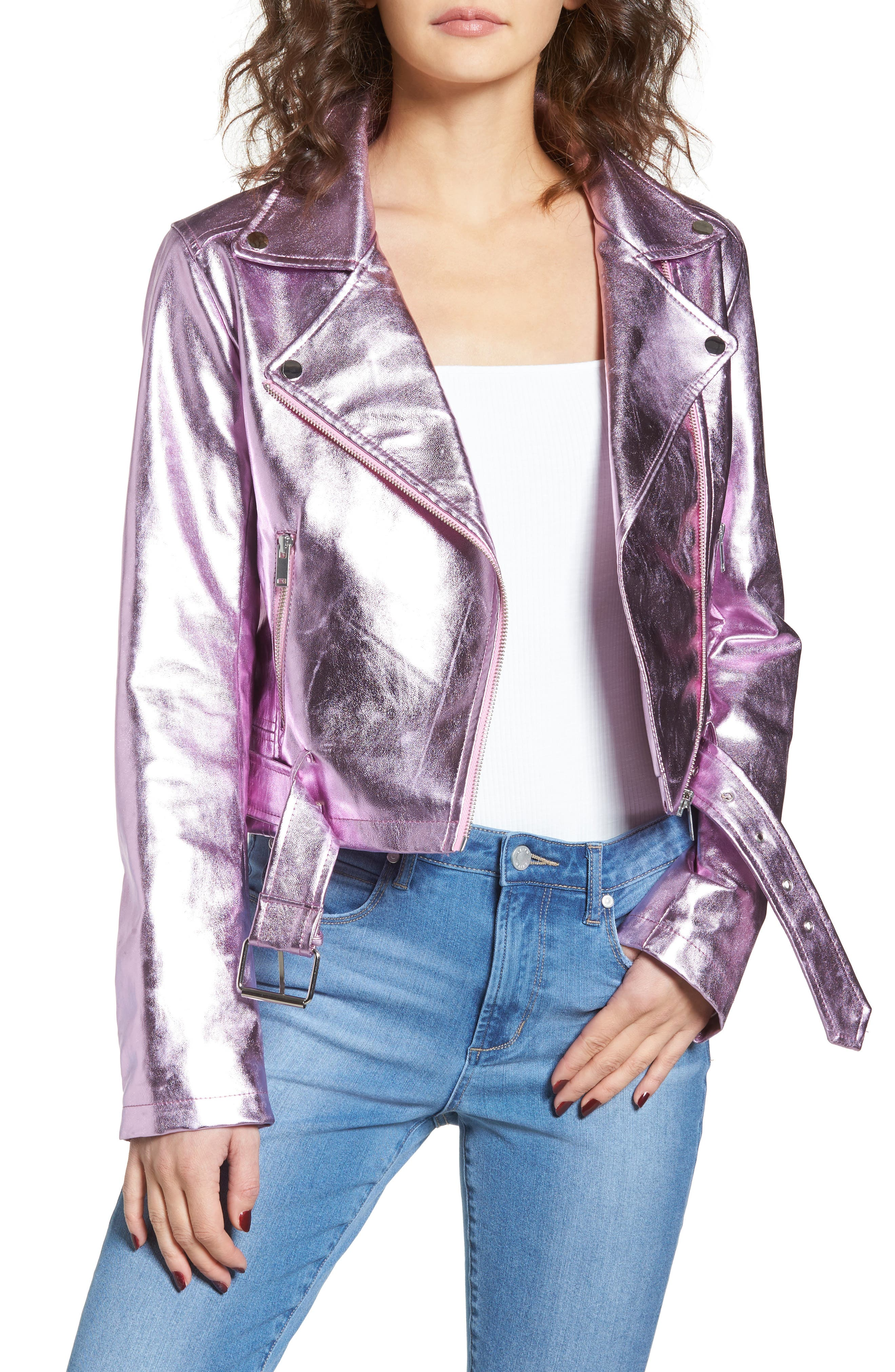 Grant Metallic Jacket,                         Main,                         color, Candy
