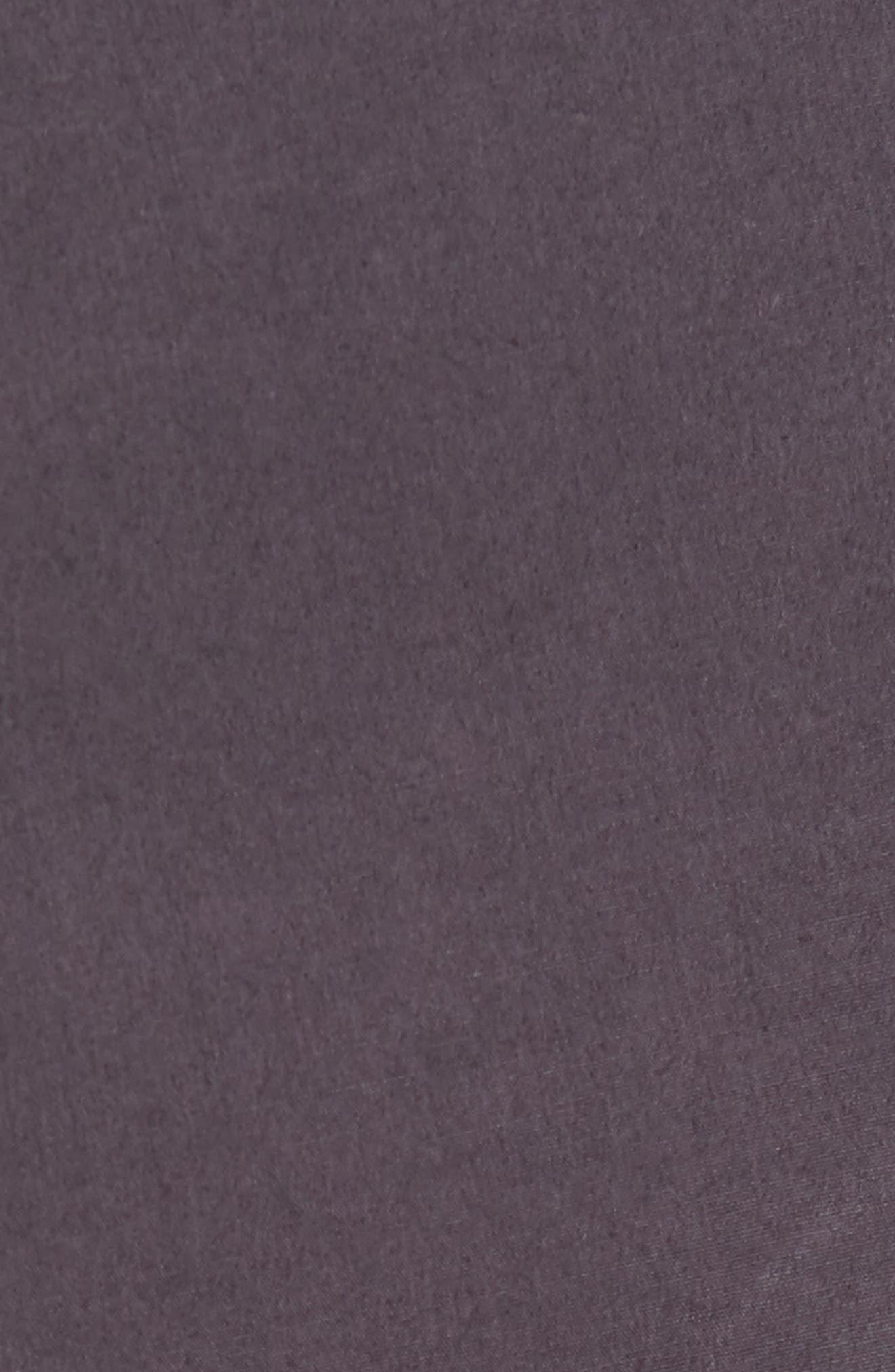 Alternate Image 5  - James Perse Slim Stretch Poplin Drawcord Pants