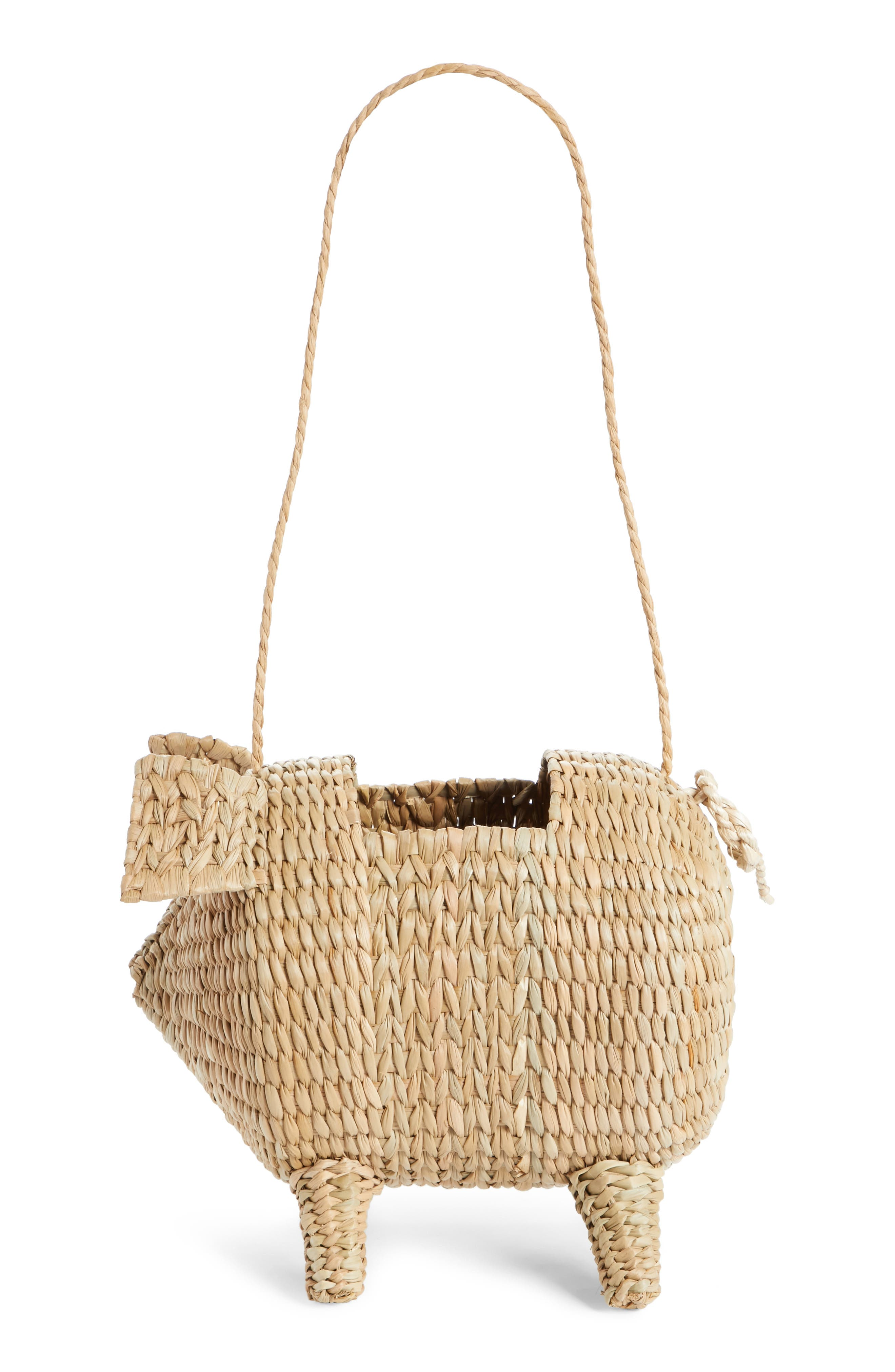 The Babe Straw Bag,                             Alternate thumbnail 3, color,                             Natural