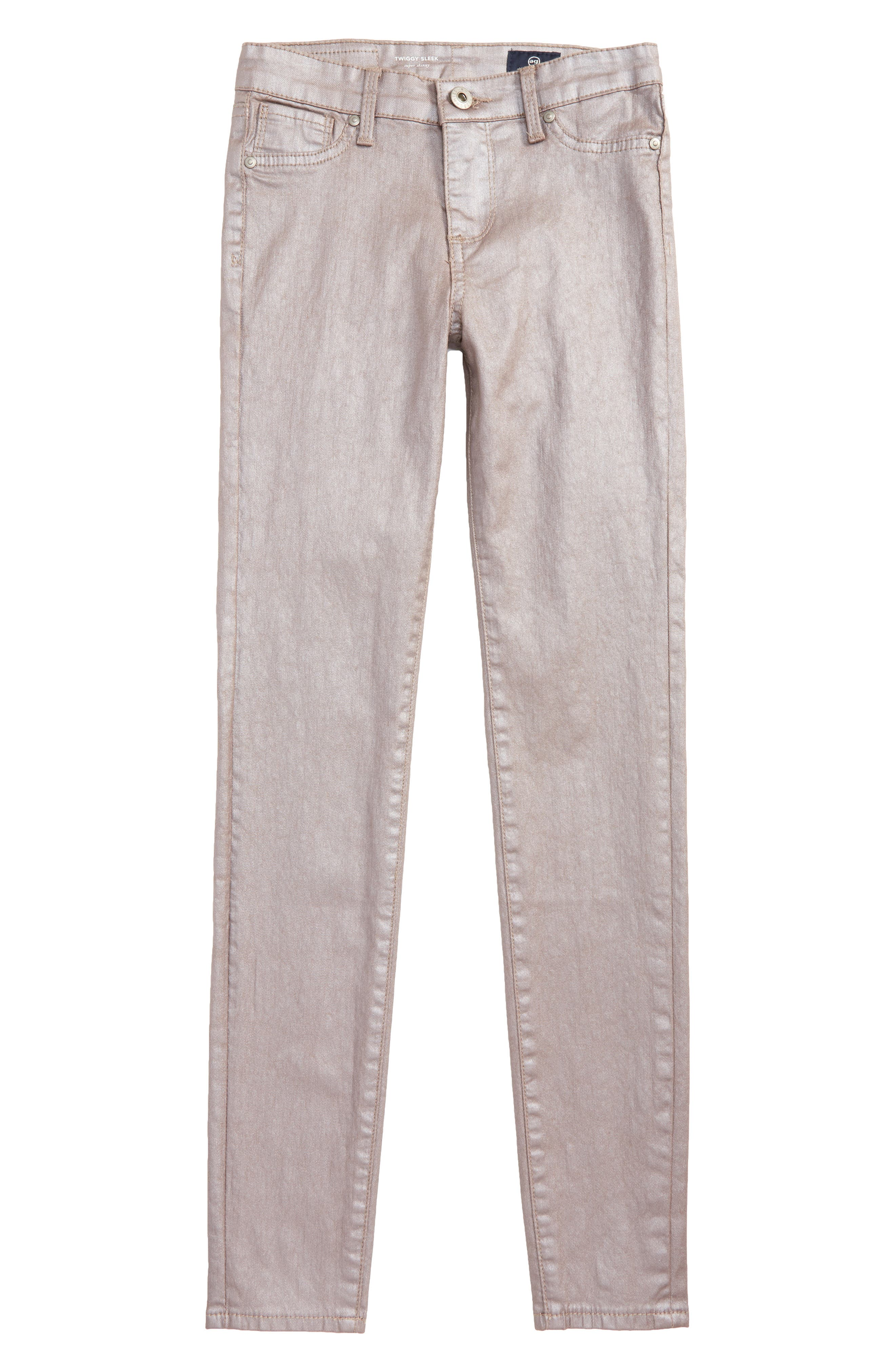 The Sleek Twiggy Ankle Jeans,                             Main thumbnail 1, color,                             Rose Smoke