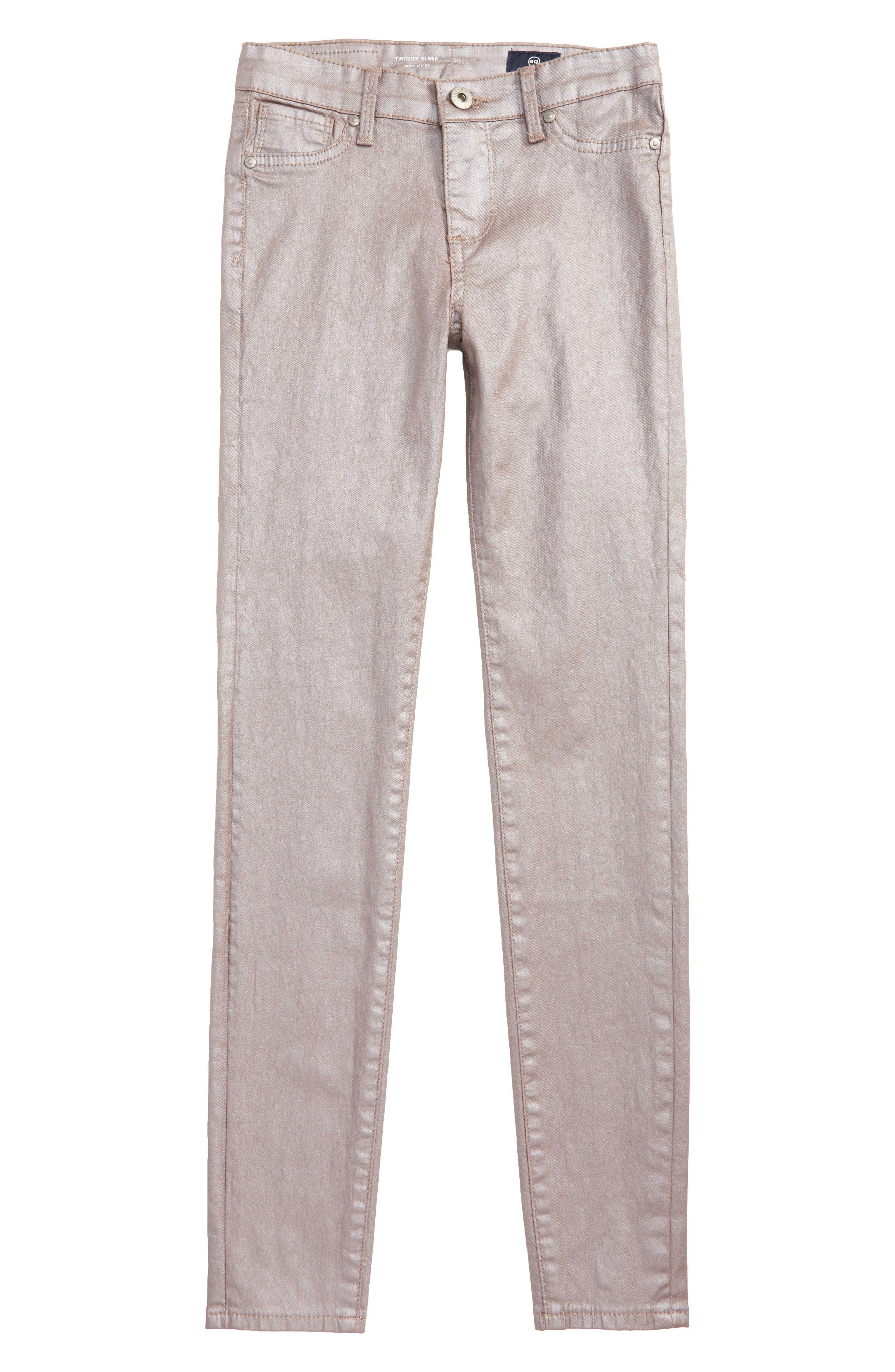 The Sleek Twiggy Ankle Jeans,                         Main,                         color, Rose Smoke