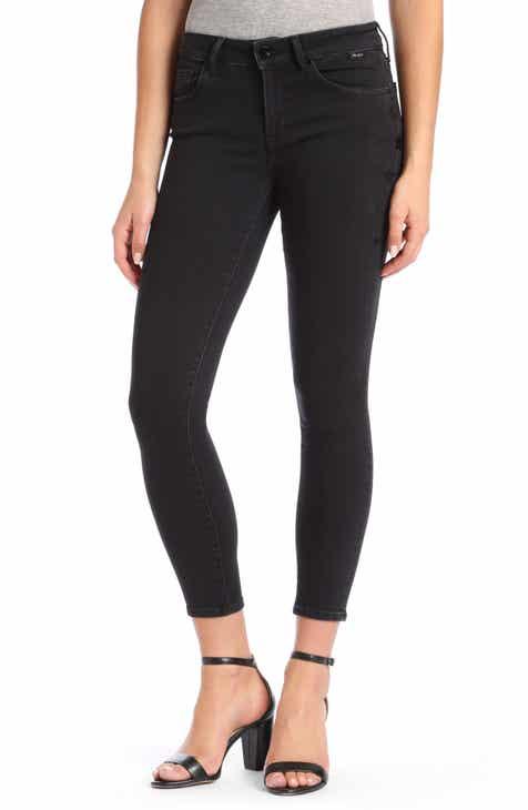 Mavi Jeans Adriana Super Skinny Smoke Black Star Jeans (Smoke Star Gold)