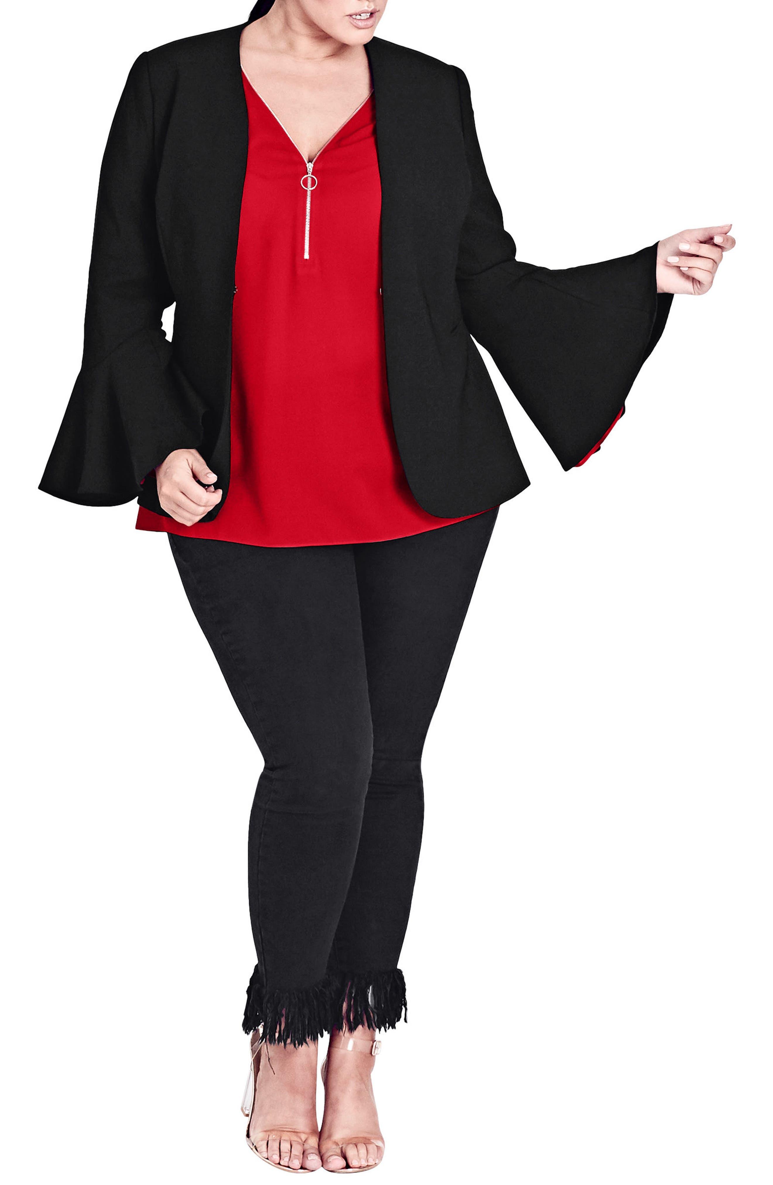 City Chic Electrify Me Jacket (Plus Size)