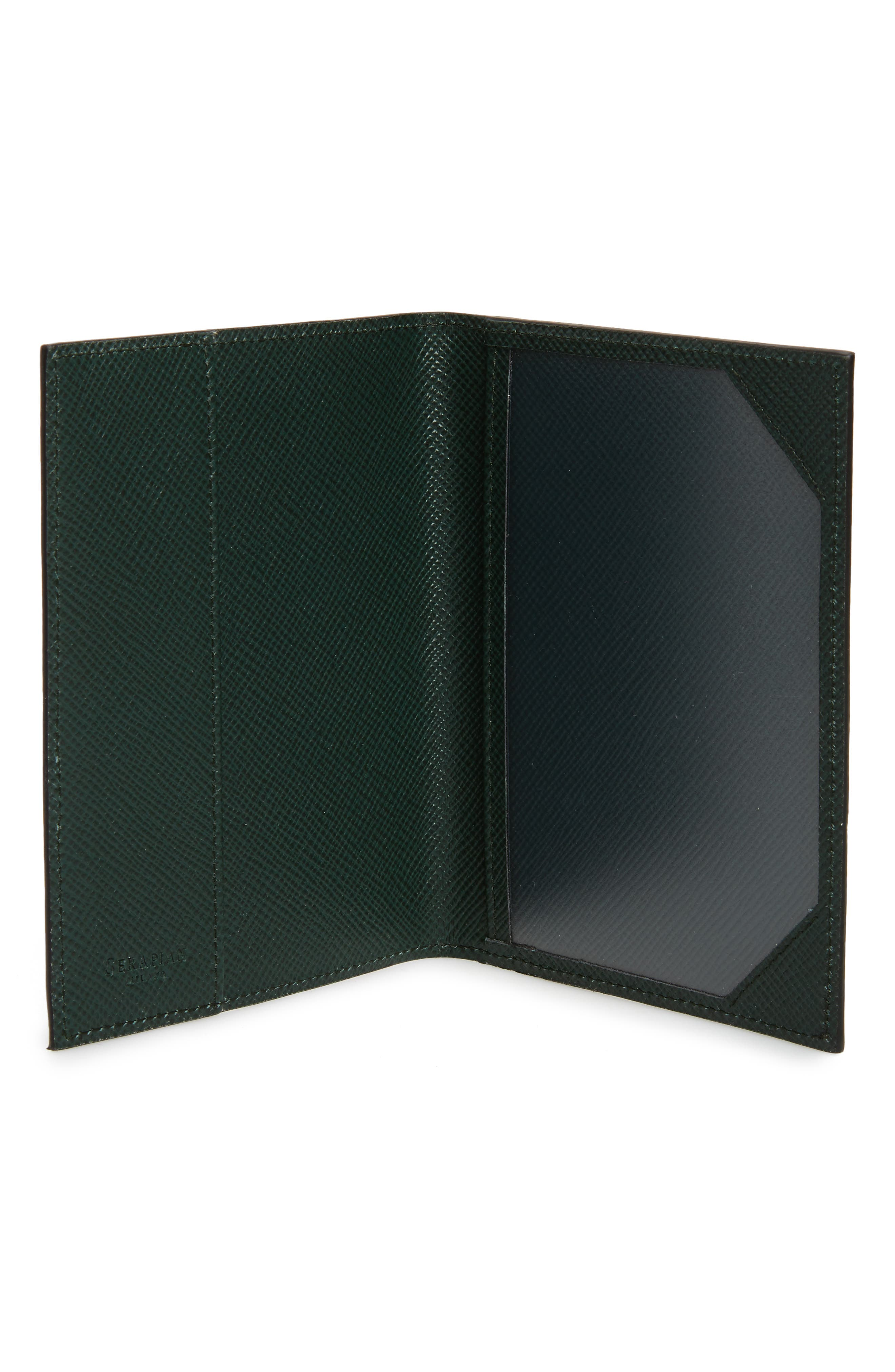 Evolution Leather Passport Case,                             Alternate thumbnail 4, color,                             Forest Green