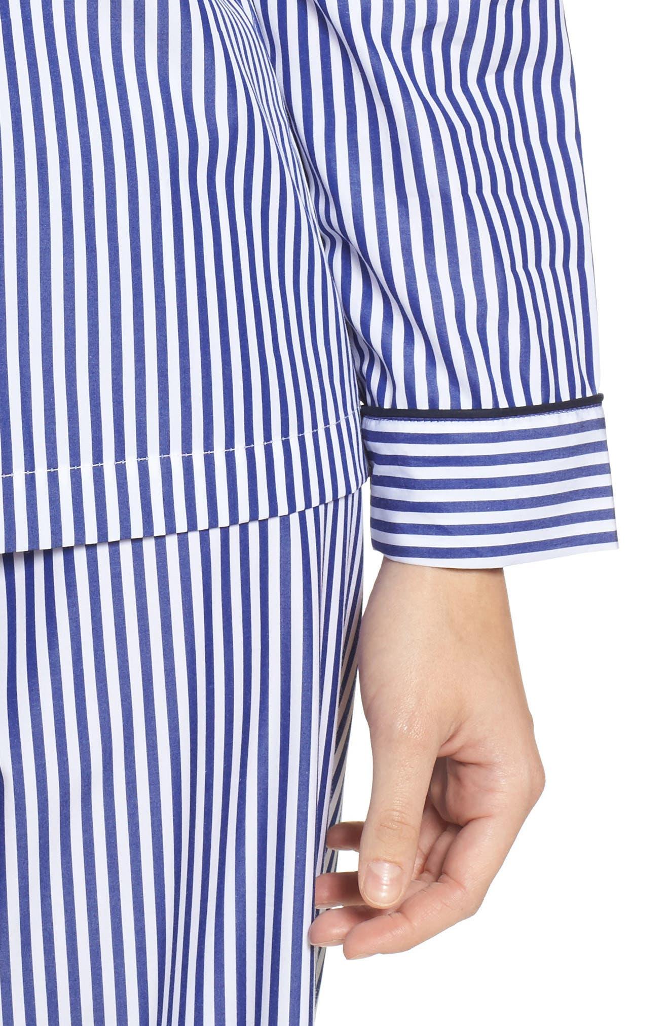 Stripe Pajamas,                             Alternate thumbnail 4, color,                             Navy Stripe