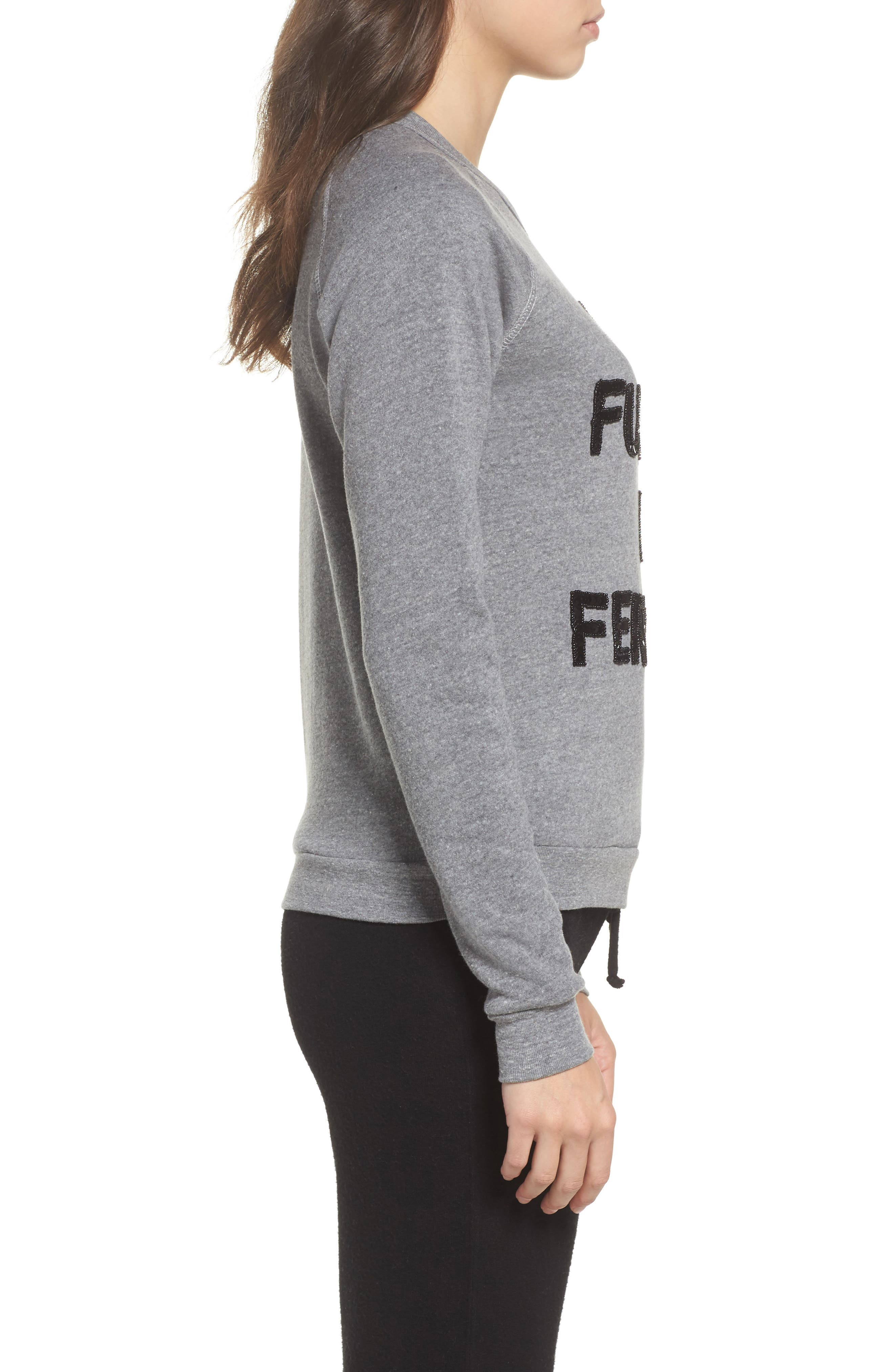 The Future is Female French Terry Sweatshirt,                             Alternate thumbnail 3, color,                             Heather Grey