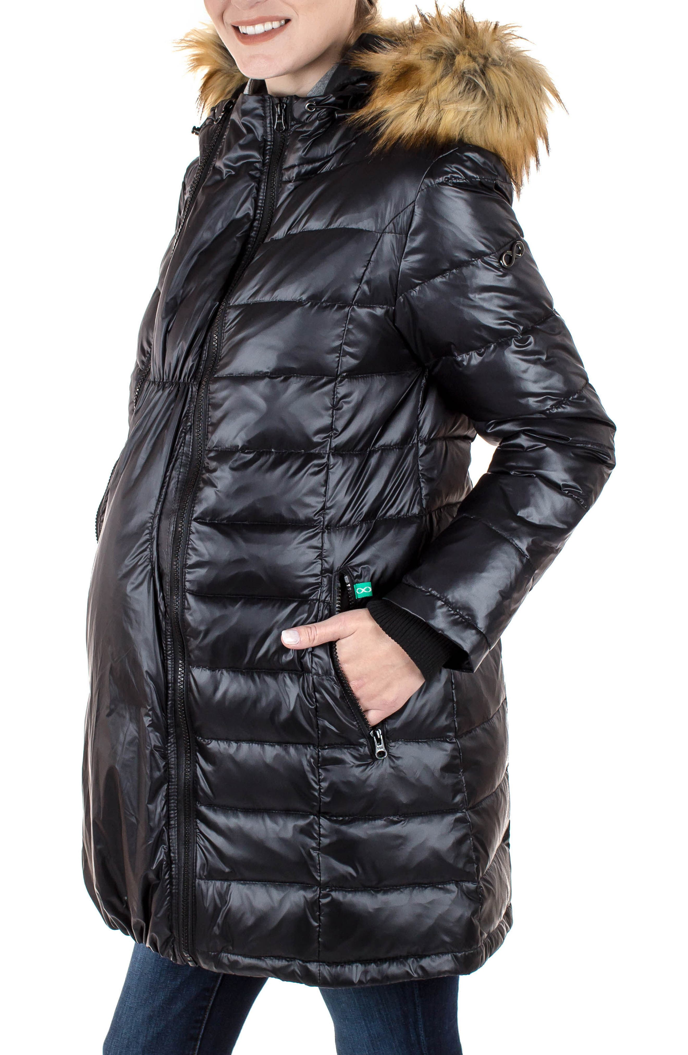 Alternate Image 3  - Modern Eternity Quilted Maternity Parka