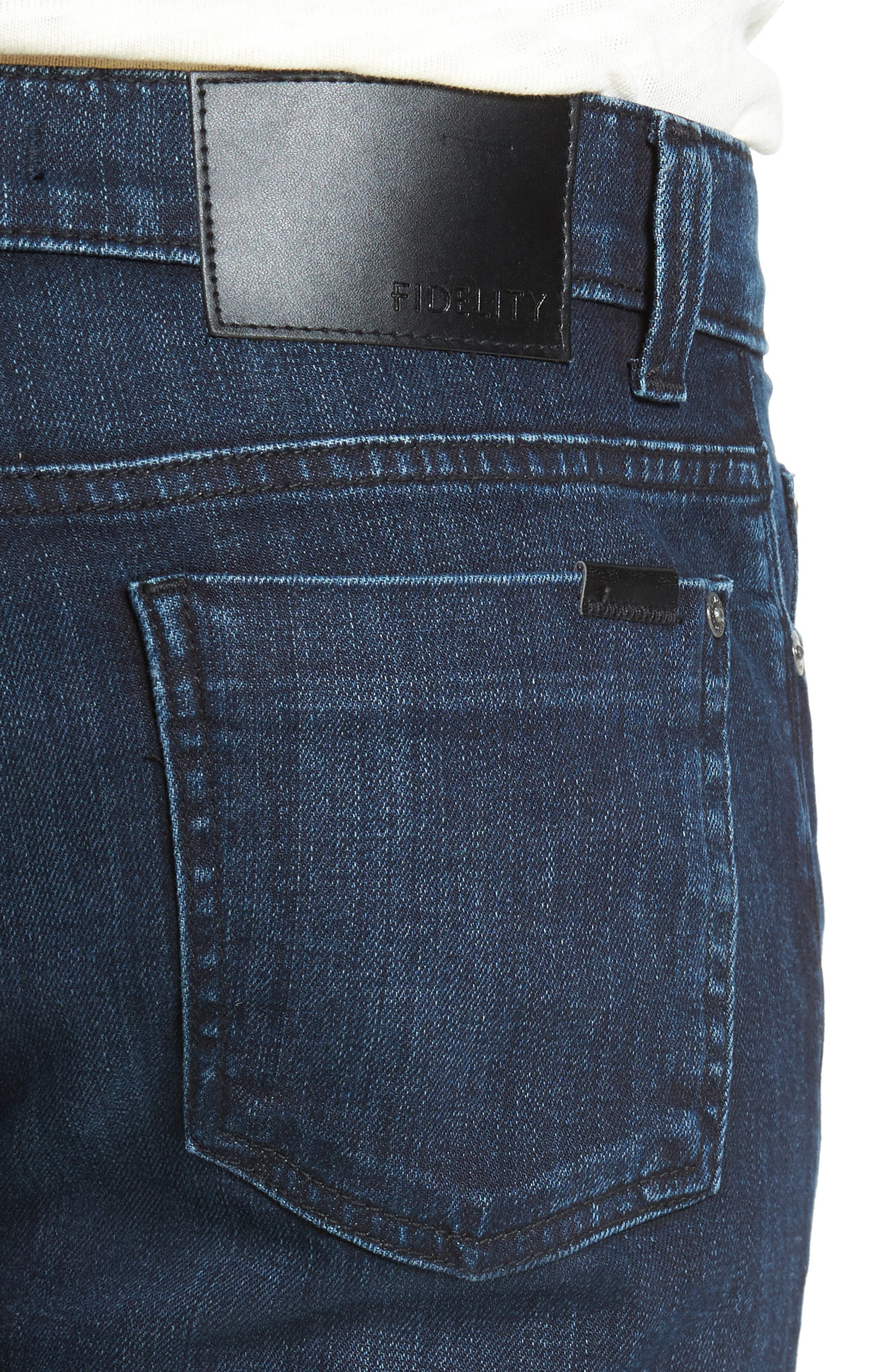 5011 Relaxed Fit Jeans,                             Alternate thumbnail 4, color,                             Black On Blue