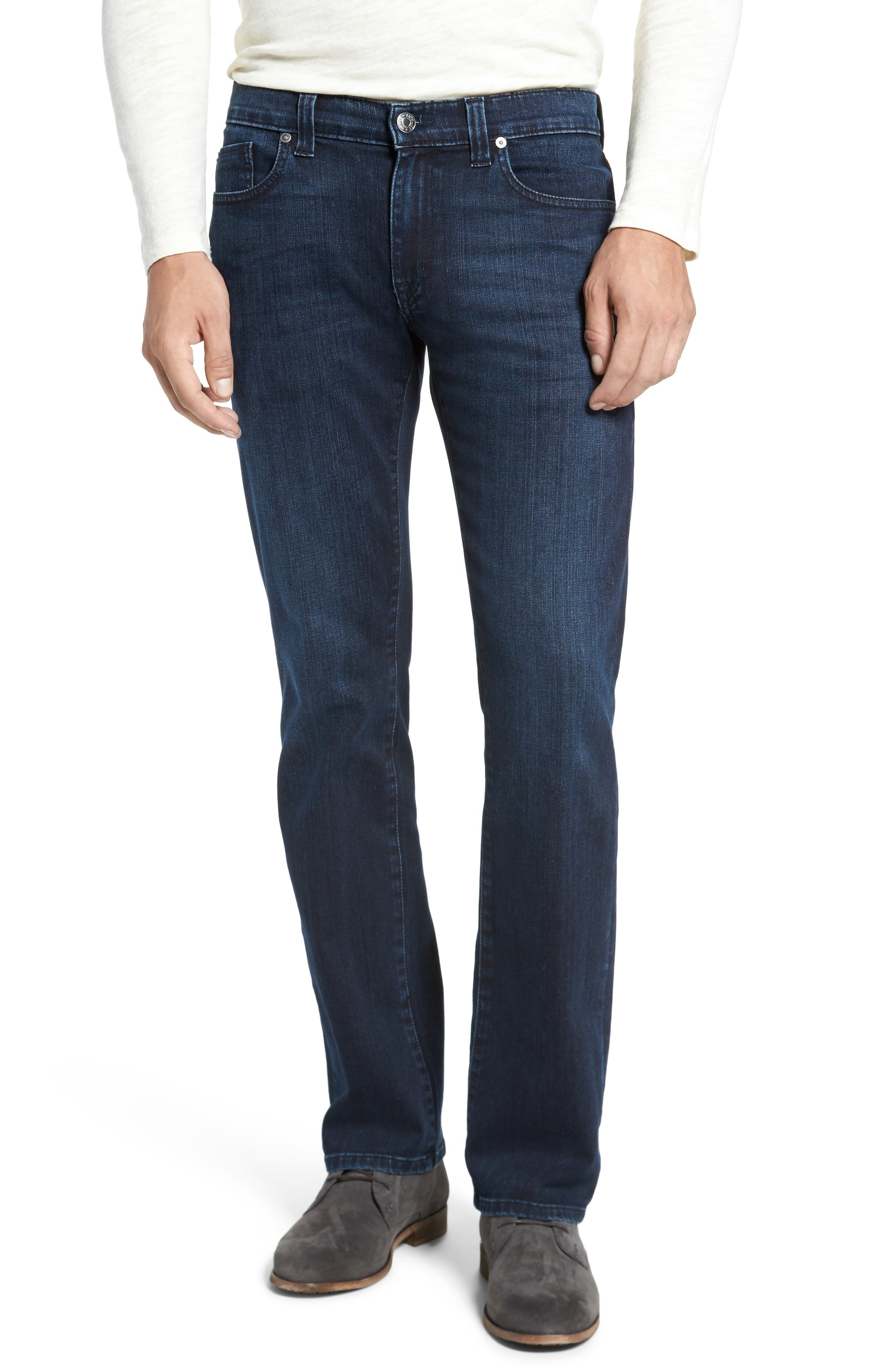 5011 Relaxed Fit Jeans,                             Main thumbnail 1, color,                             Black On Blue