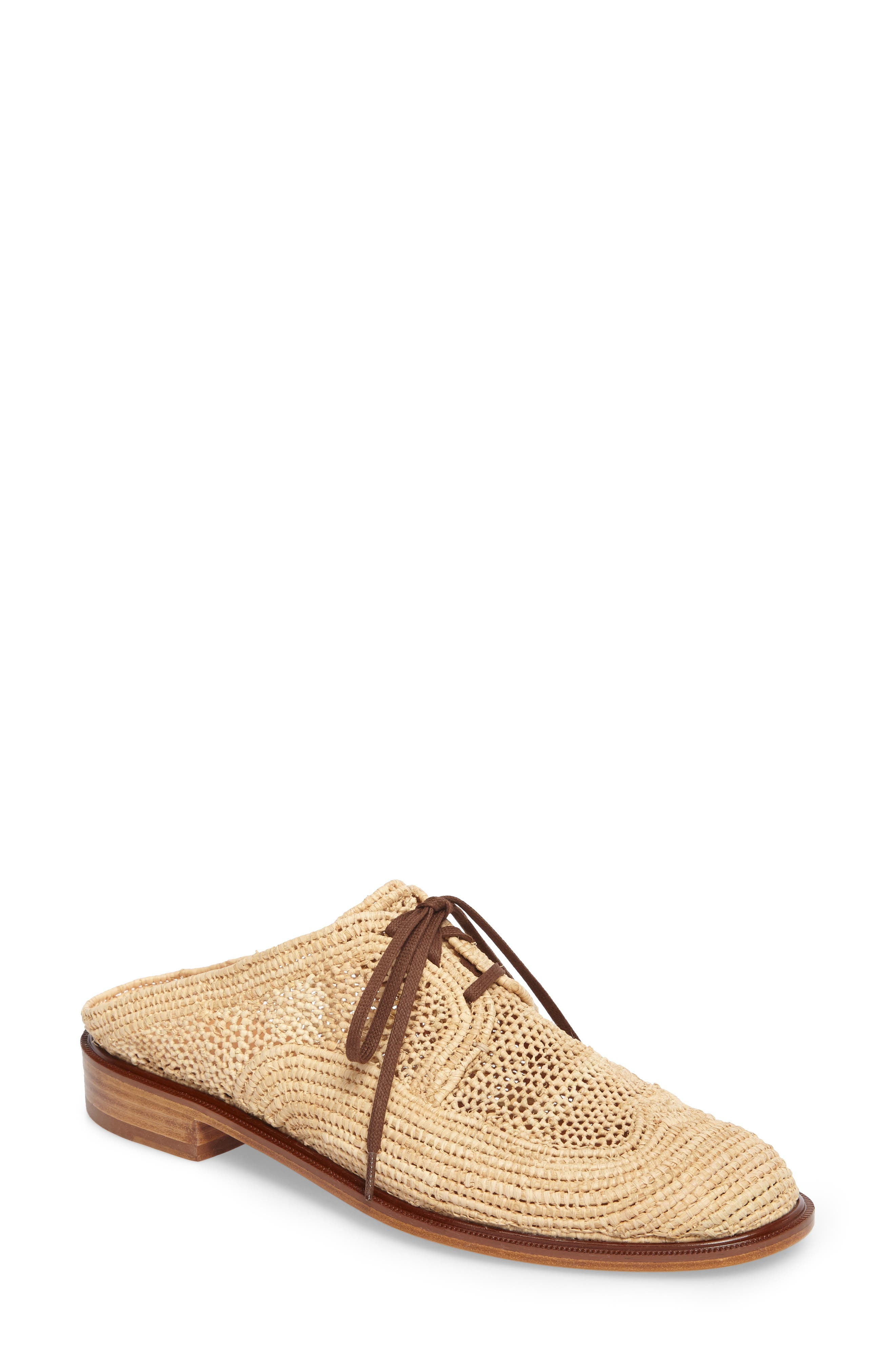 Alternate Image 1 Selected - Robert Clergerie Jaly Woven Loafer Mule (Women)