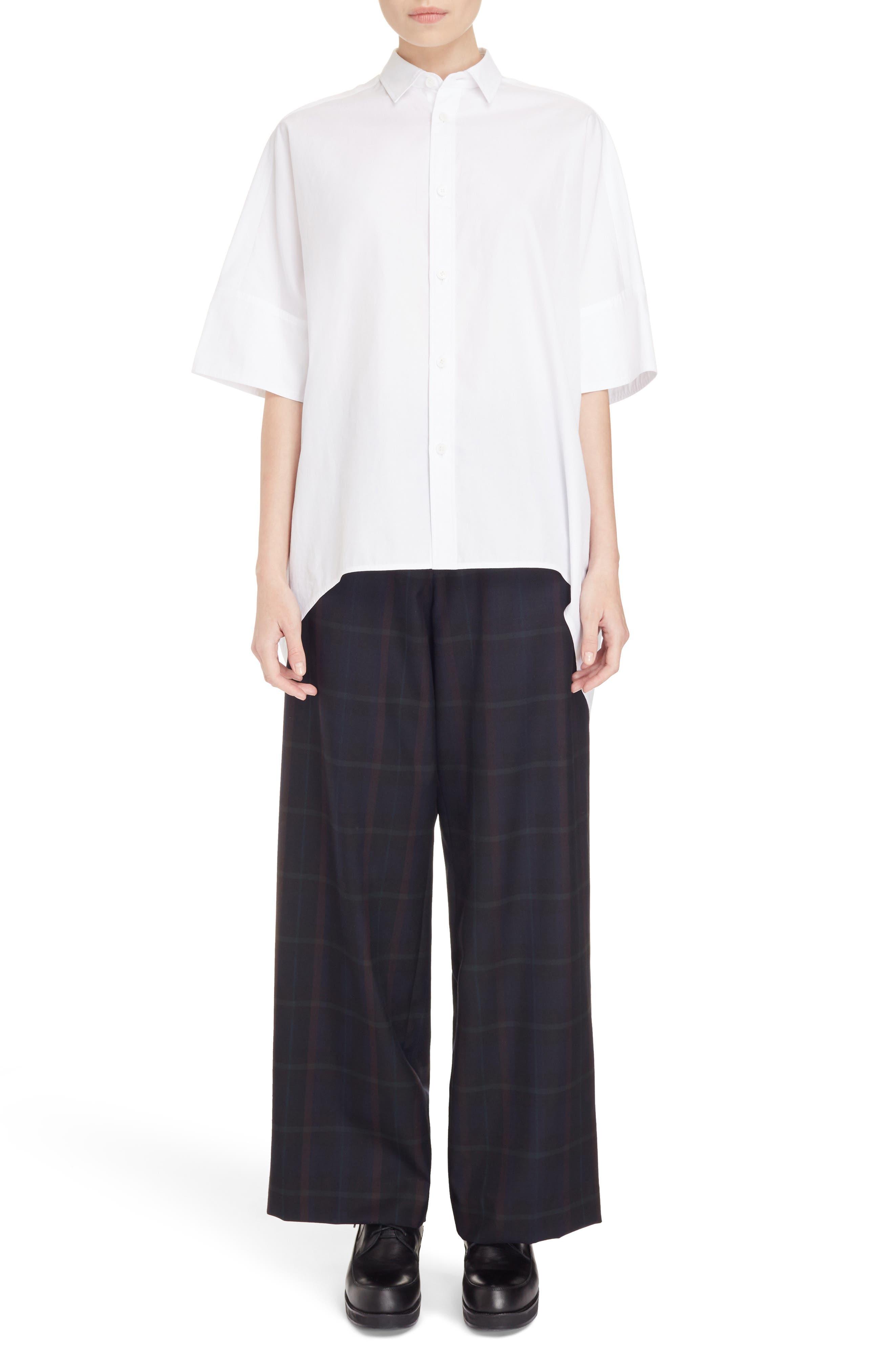 Alternate Image 6  - Y's by Yohji Yamamoto Oversize Drop Hem Shirt