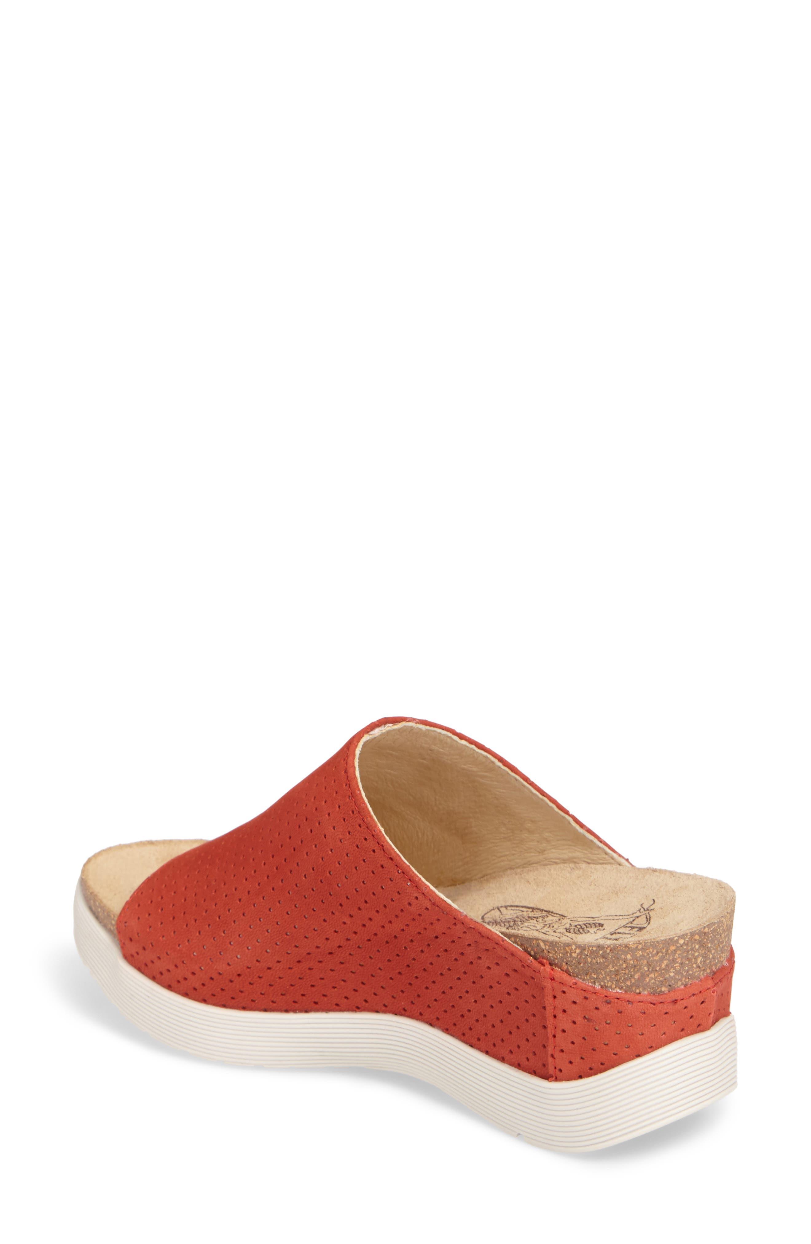 Whin Platform Sandal,                             Alternate thumbnail 2, color,                             Scarlet Cupido Leather