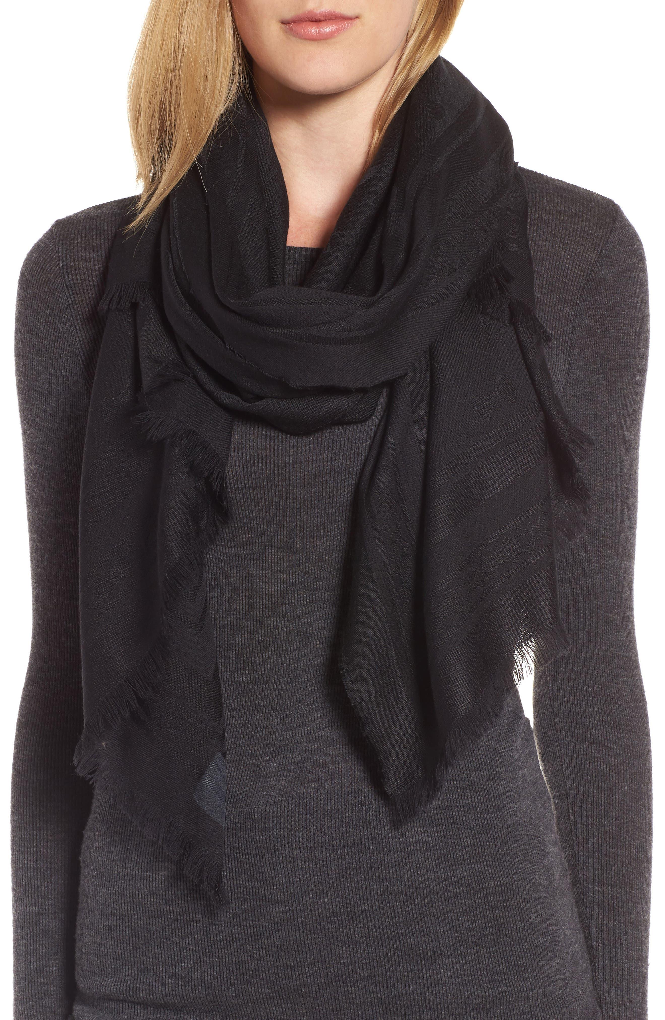 Main Image - Ted Baker London Bow Jacquard Wool & Silk Scarf