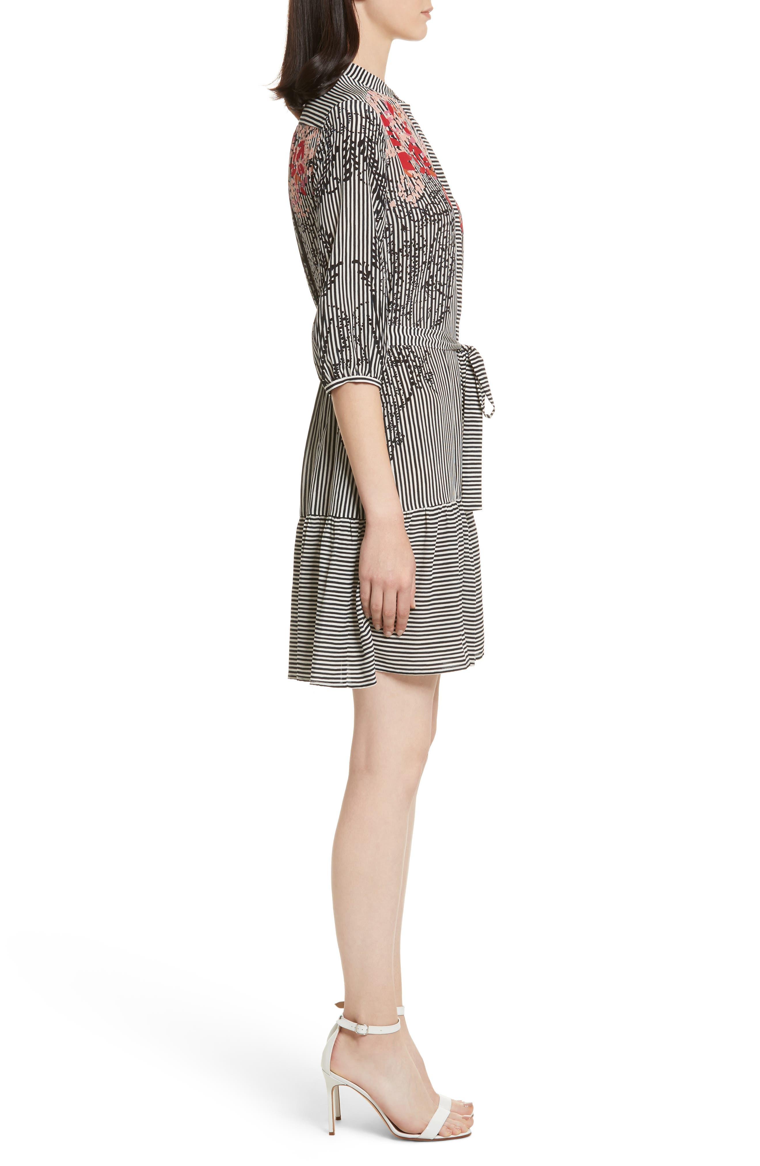 Alternate Image 3  - SALONI Tyra Print Silk Fit & Flare Dress
