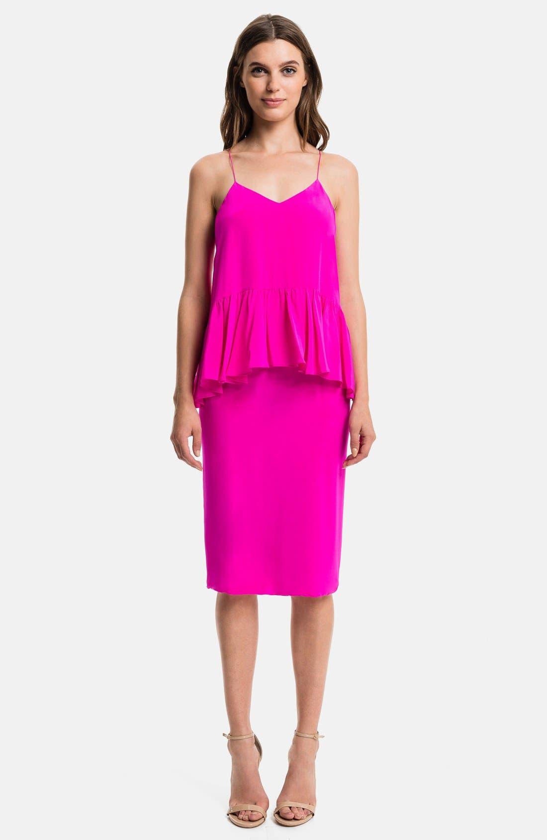 Main Image - 1.STATE Ruffled Midi Dress