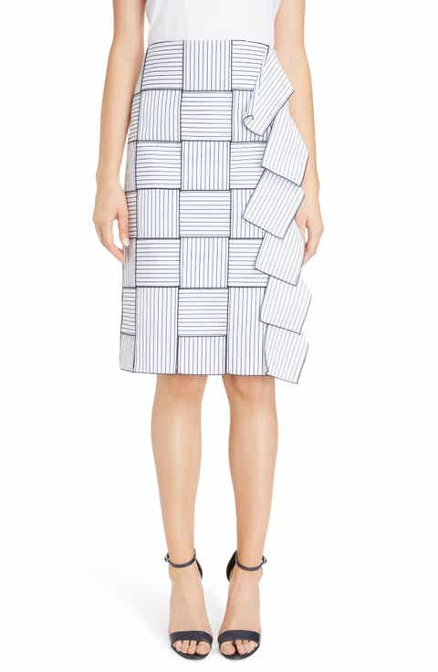 Victoria, Victoria Beckham Basket-Weave Pencil Skirt
