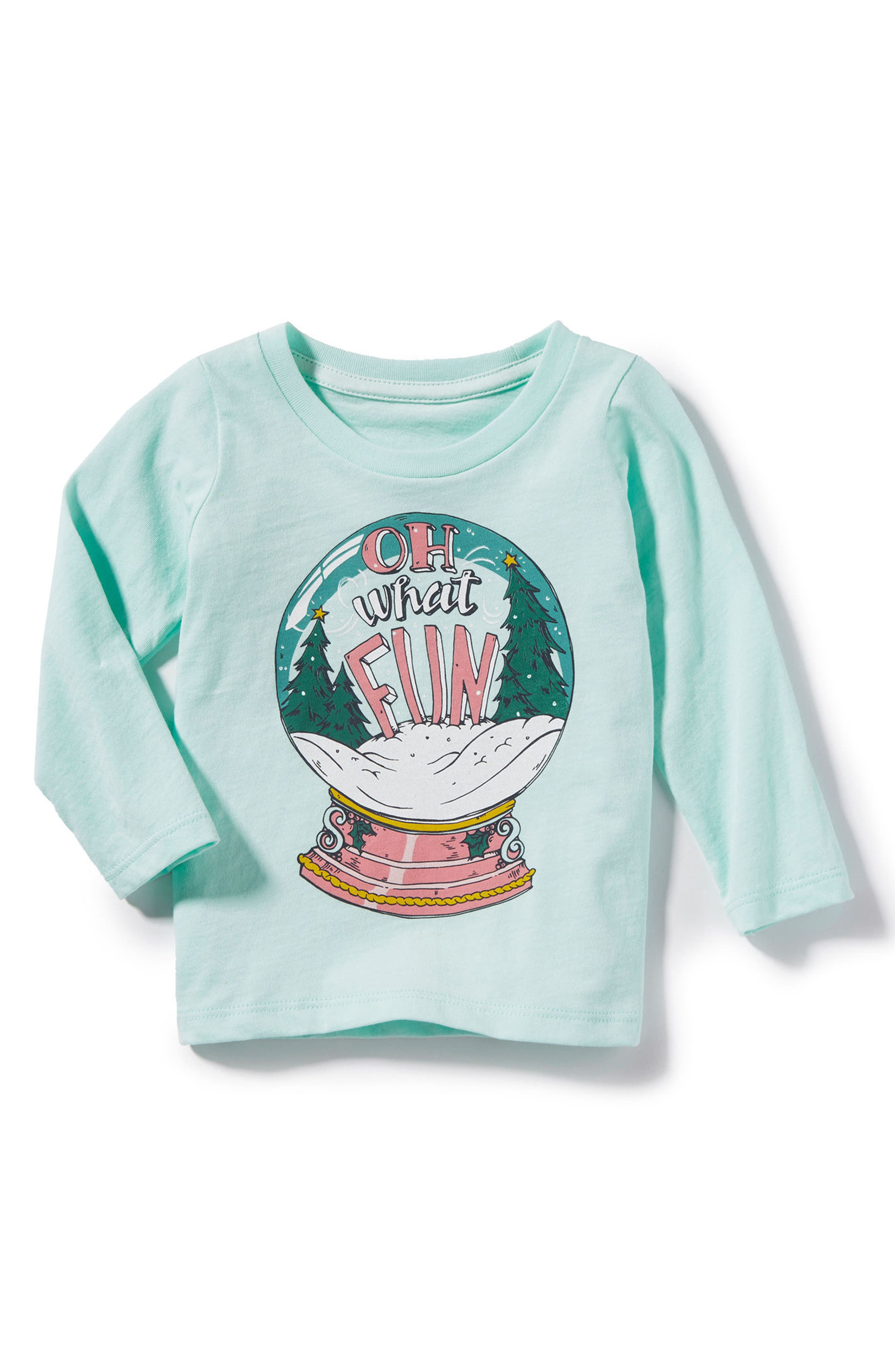 Oh What Fun Graphic Tee,                             Main thumbnail 1, color,                             Teal