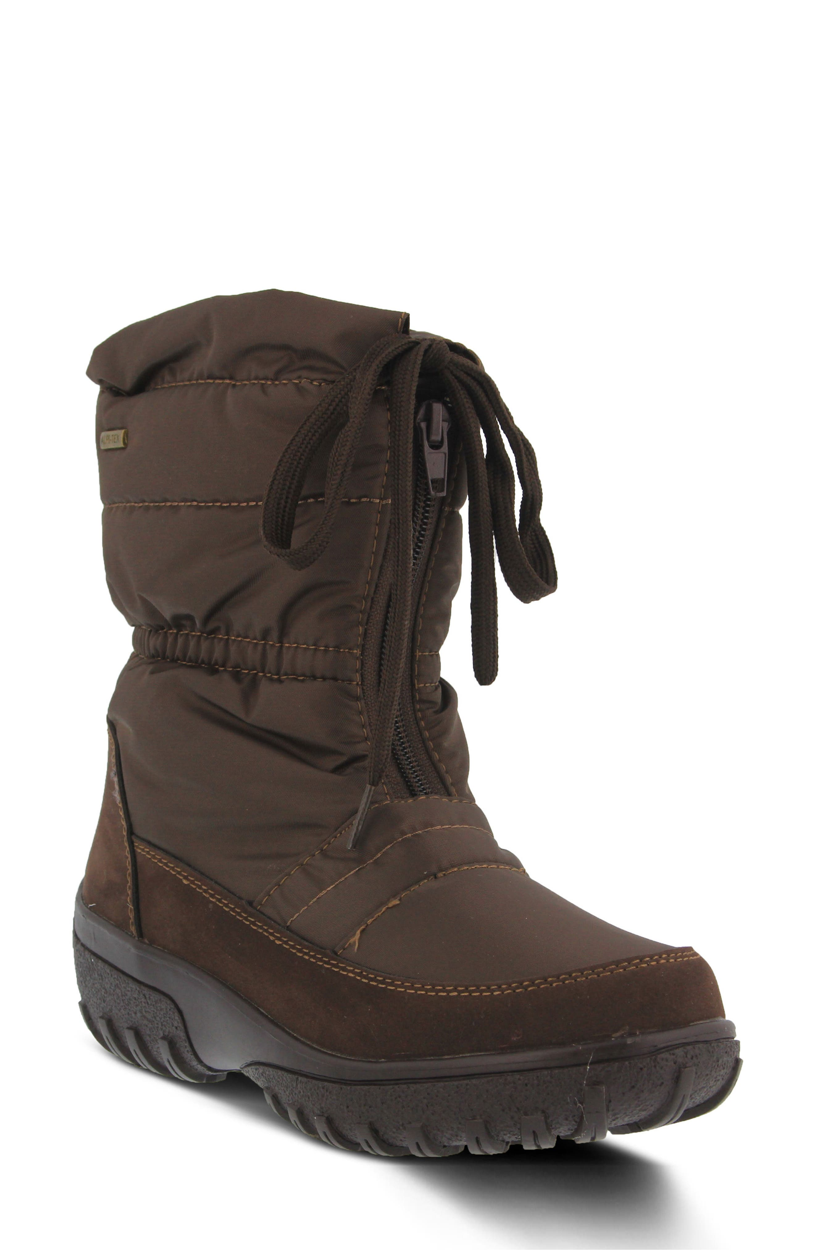 Lucerne Waterproof Drawstring Boot,                             Main thumbnail 1, color,                             Brown