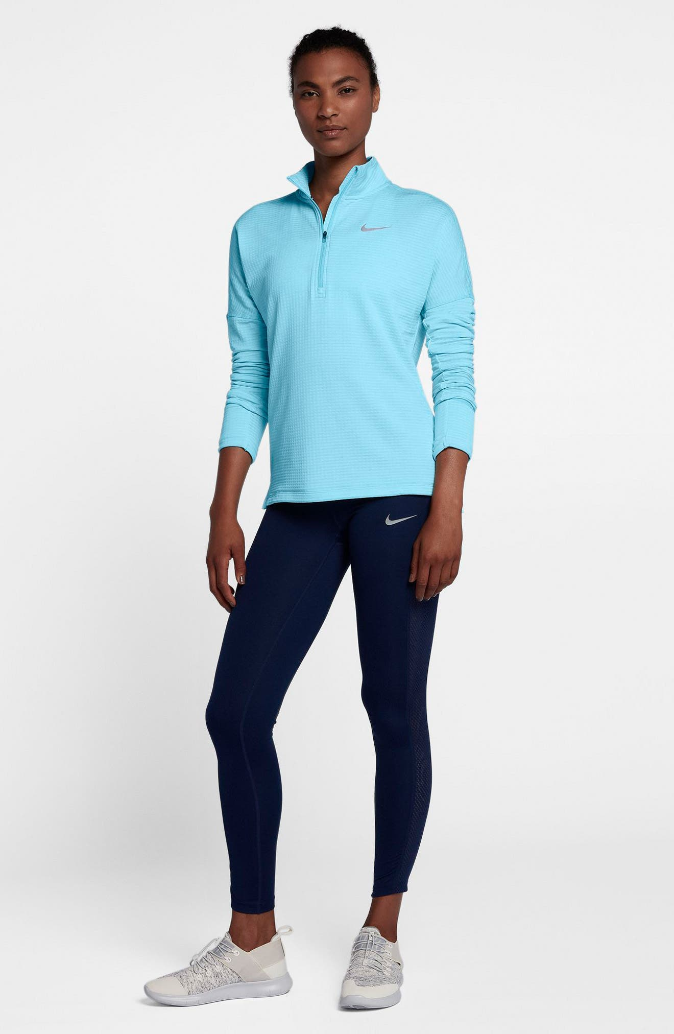 Therma Sphere Element Running Pullover Top,                             Alternate thumbnail 8, color,                             Polarized Blue/ Htr