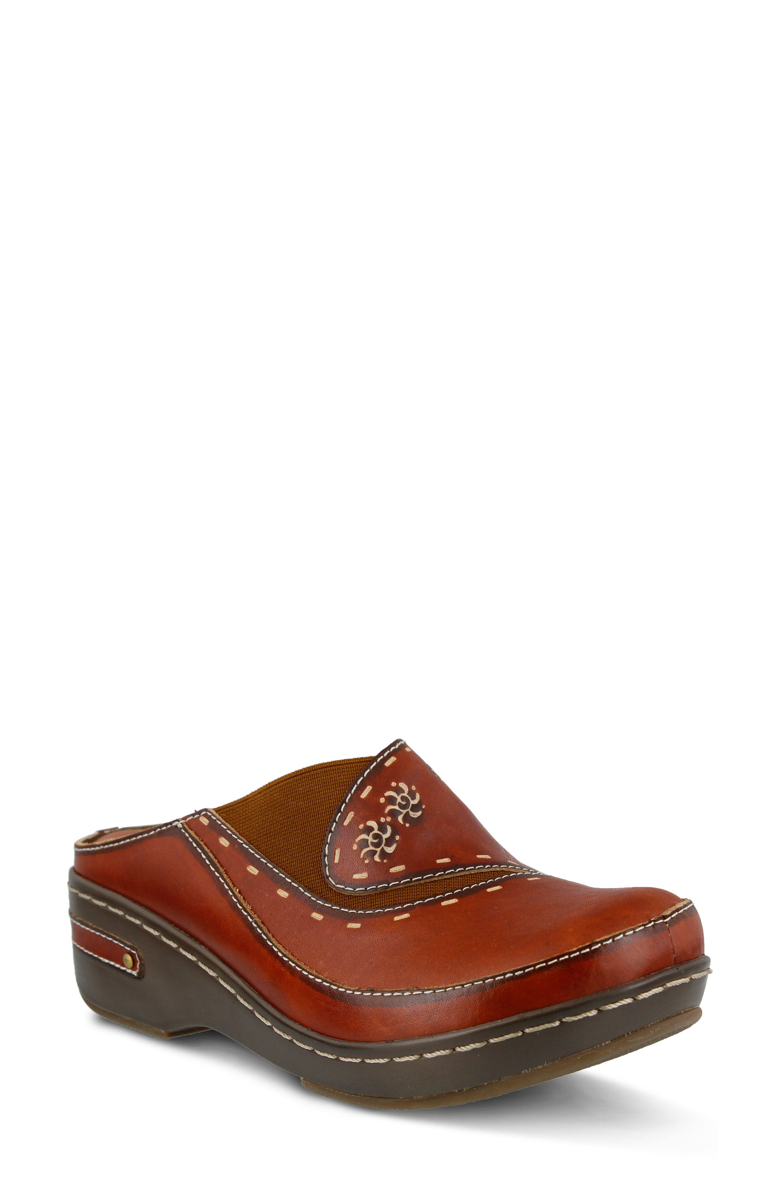 L'Artiste Chino Clog,                             Main thumbnail 1, color,                             Camel Leather
