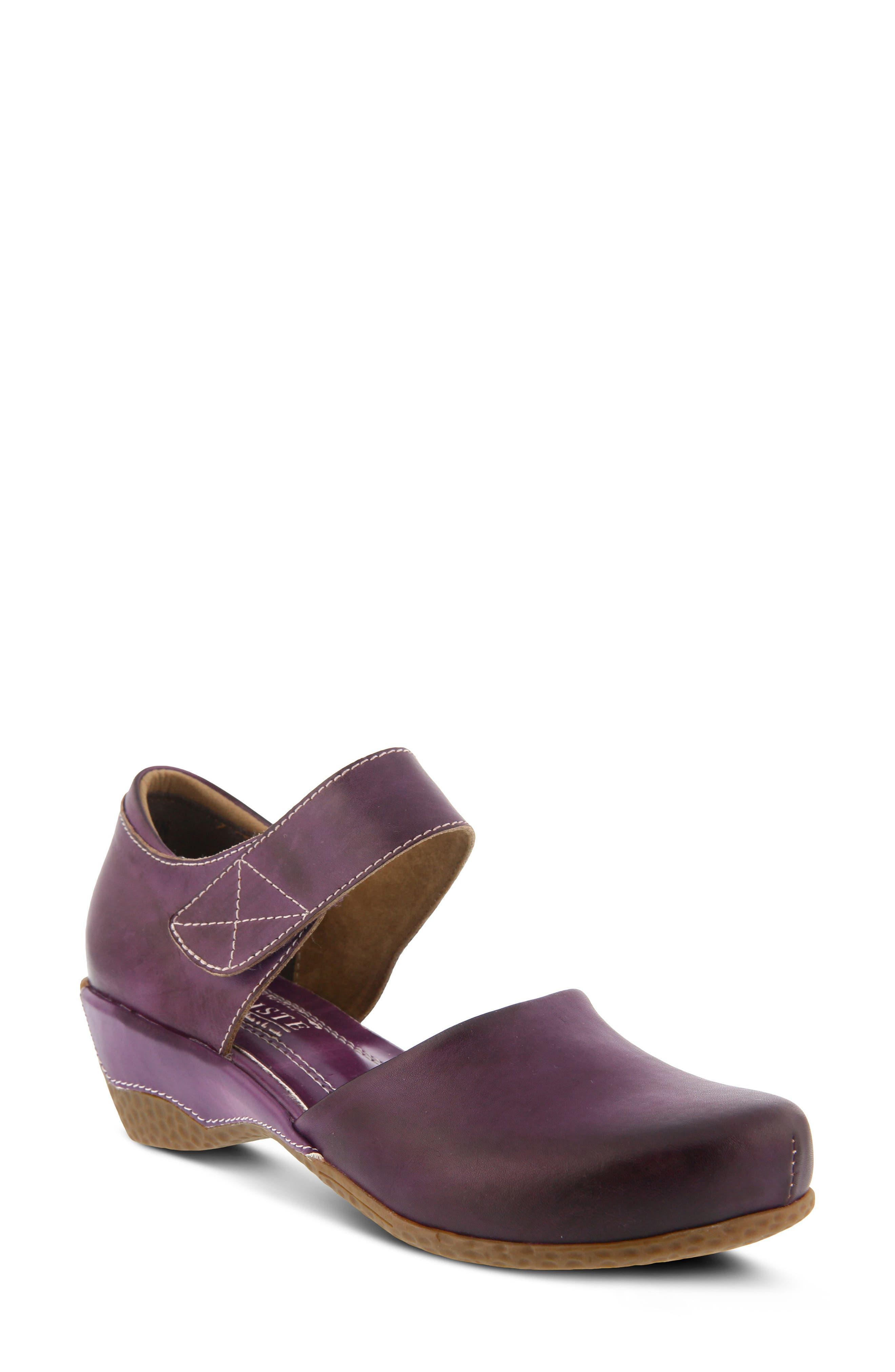 L'Artiste Gloss Mary Jane Pump,                         Main,                         color, Purple Leather