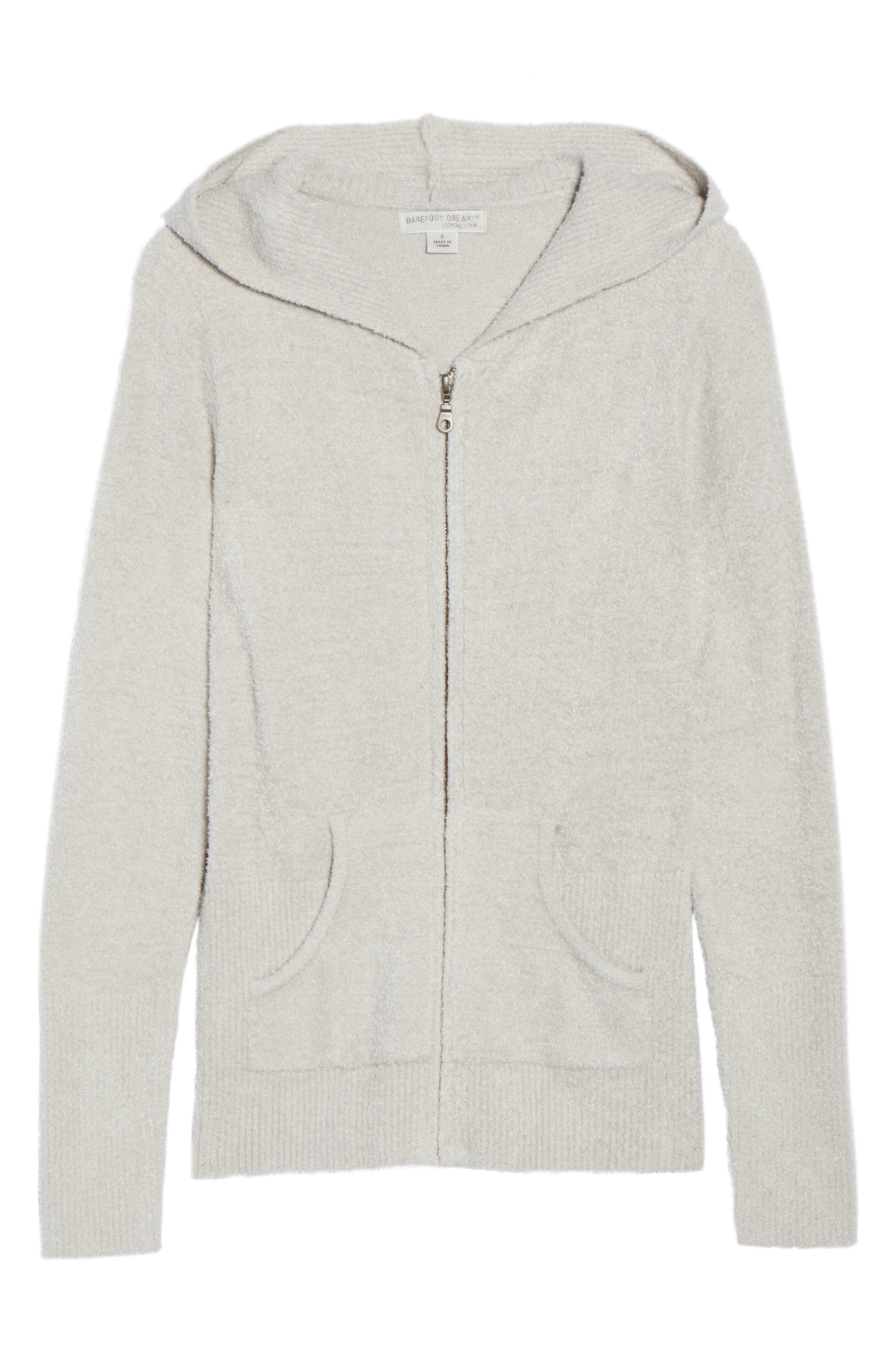 Cozychic Lite<sup>®</sup> Lounge Hoodie,                             Alternate thumbnail 6, color,                             Silver
