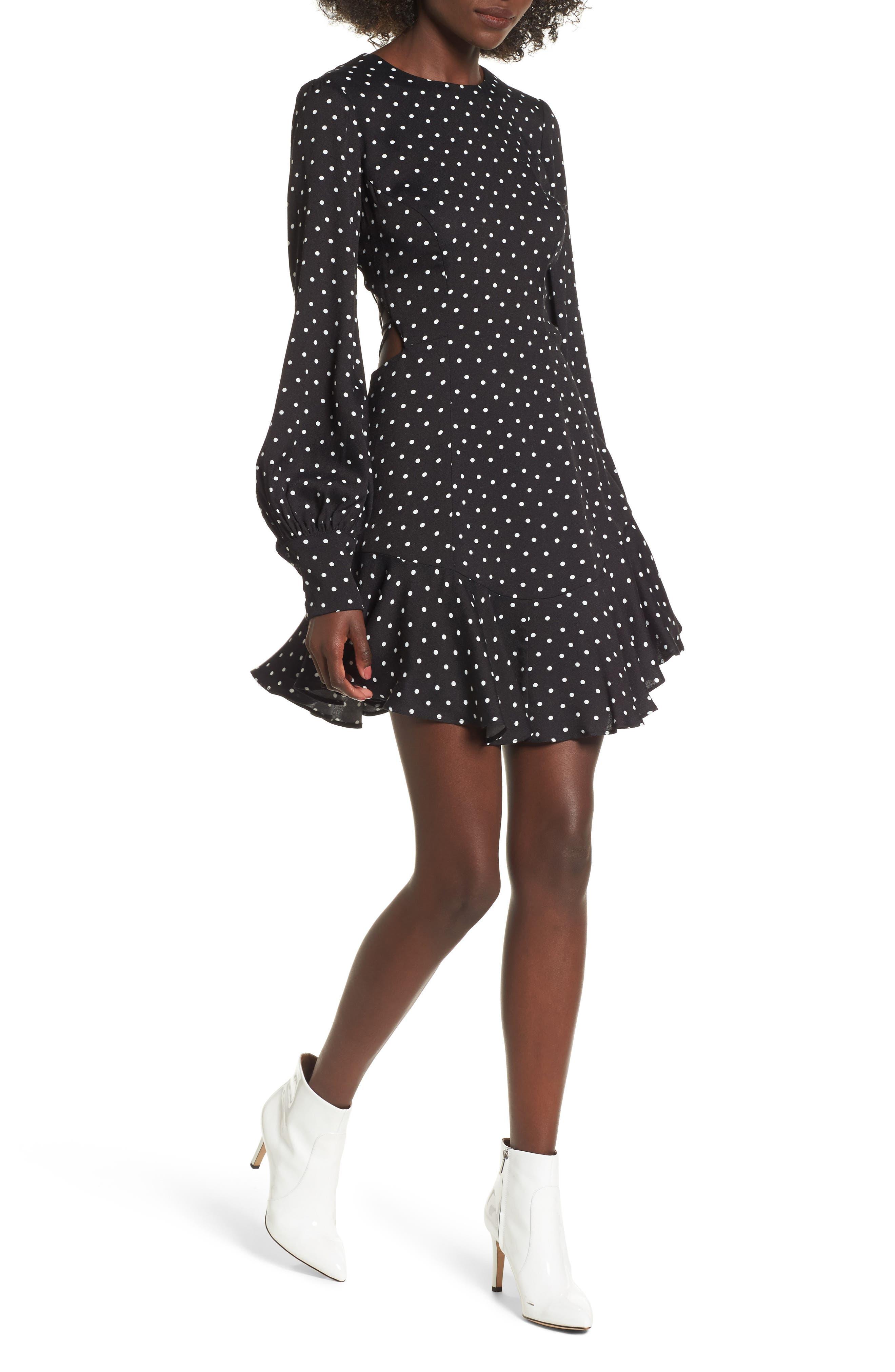 AFRM Savanna Lattice Back Fit & Flare Dress